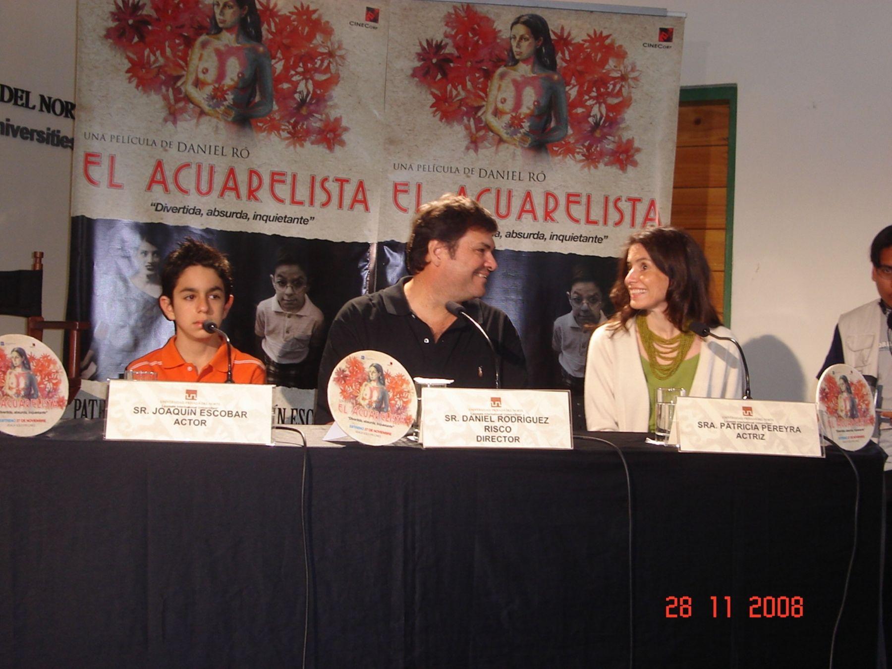 Patricia Pereyra comenta con Daniel Ró el cálido recibimiento en Trujillo.