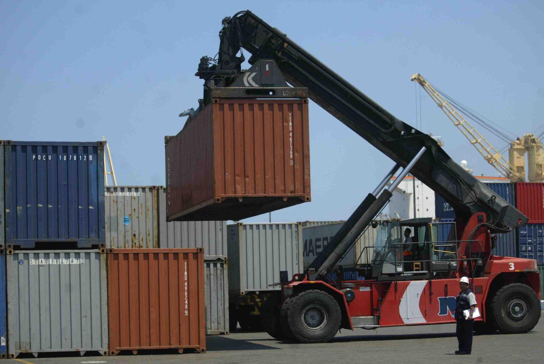 Exportaciones. ANDINA/archivo