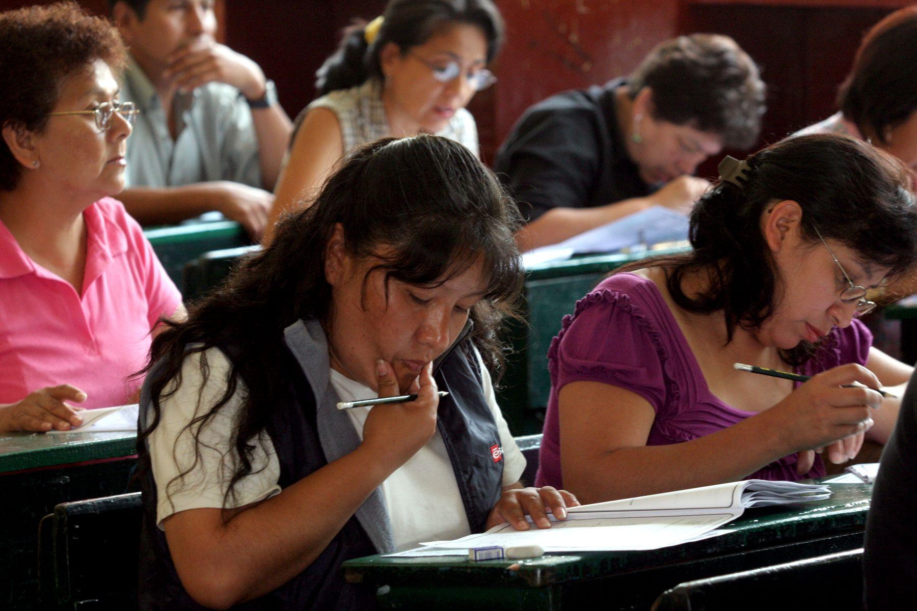 Evaluación de docentes. Foto: Andina/Difusión