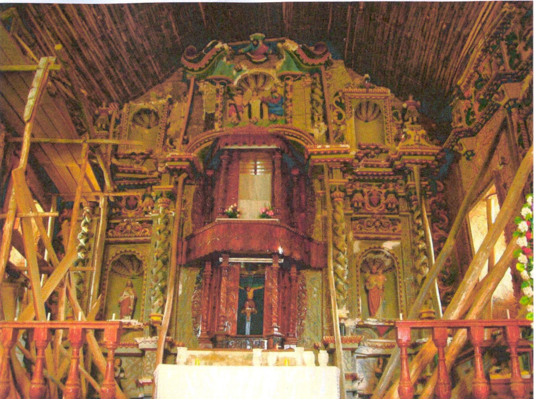 """Interior de la iglesia Nuestra Señora de la Asunción de Angasmarca, considerada """"la capilla Sixtina del norte del Perú"""". Foto: ANDINA/Arzobispado de Trujillo."""