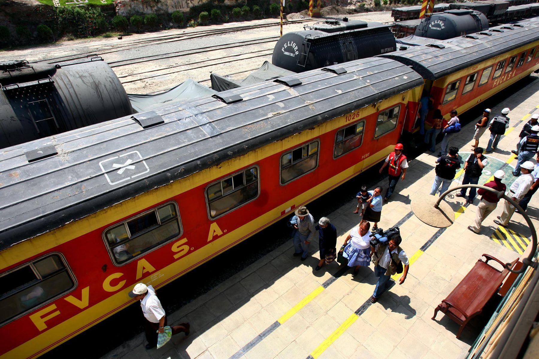 Ferrocarril Central. Foto: ANDINA/archivo