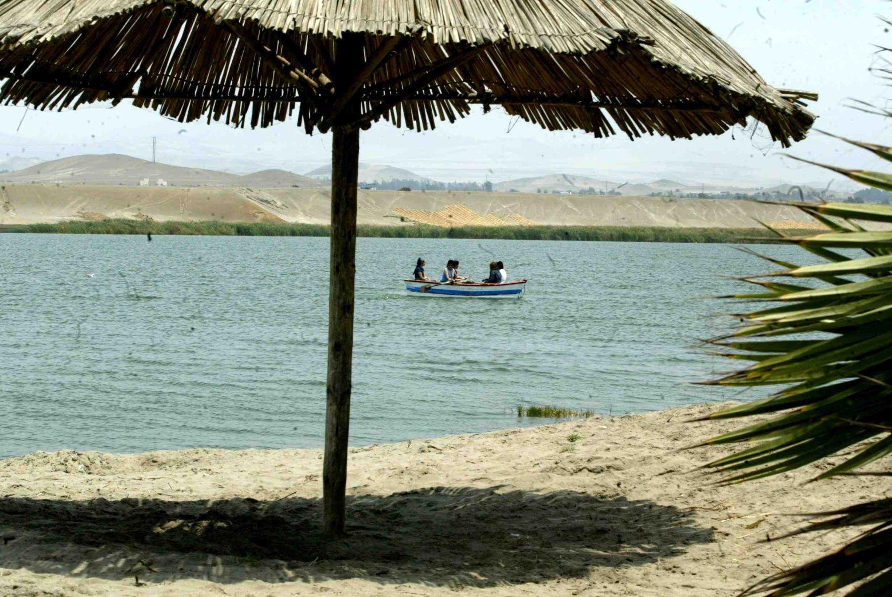 Albúfera de Medio Mundo, ubicado en Huaura. ANDINA