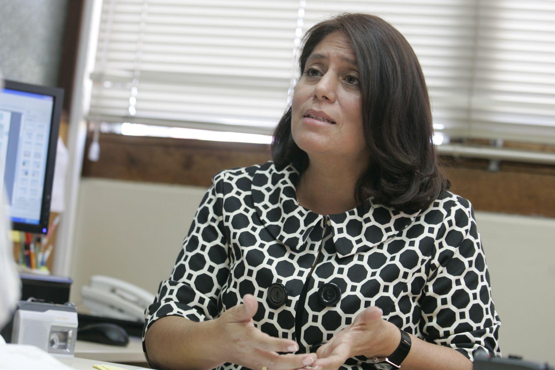 Procuradora  Pública Especializada Supranacional, Delia Muñoz. Foto: ANDINA/Rafael Cornejo.