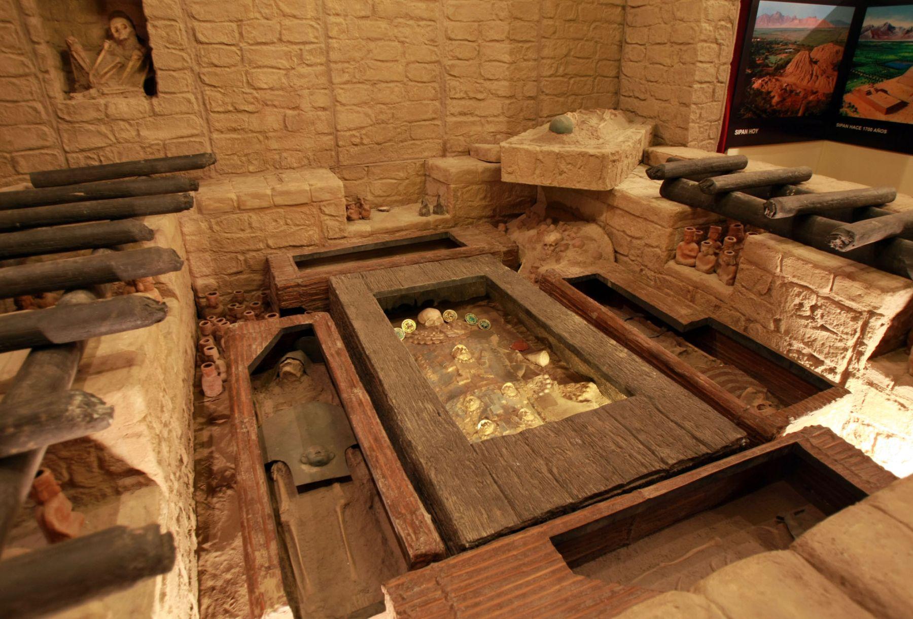 Comparan al Señor de Sipán con Tutankamón, el faraón egipcio. ANDINA/archivo