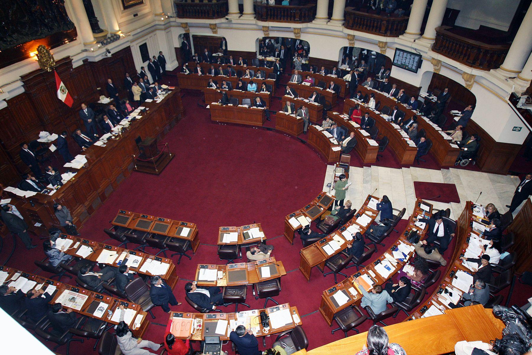 Hemiciclo del Congreso. Foto.ANDINA/Norman Cordova