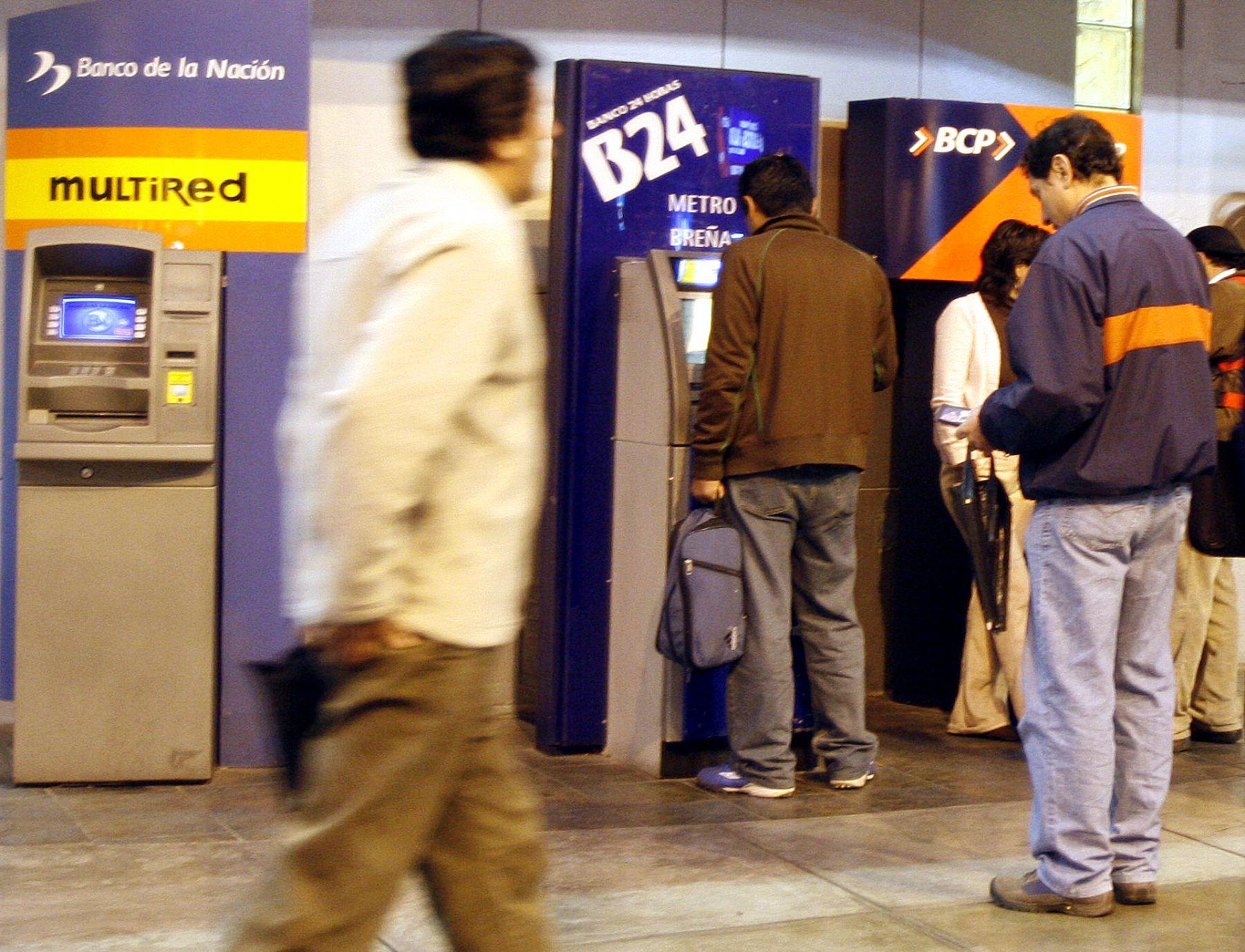 Cajeros automáticos. Foto: ANDINA/archivo