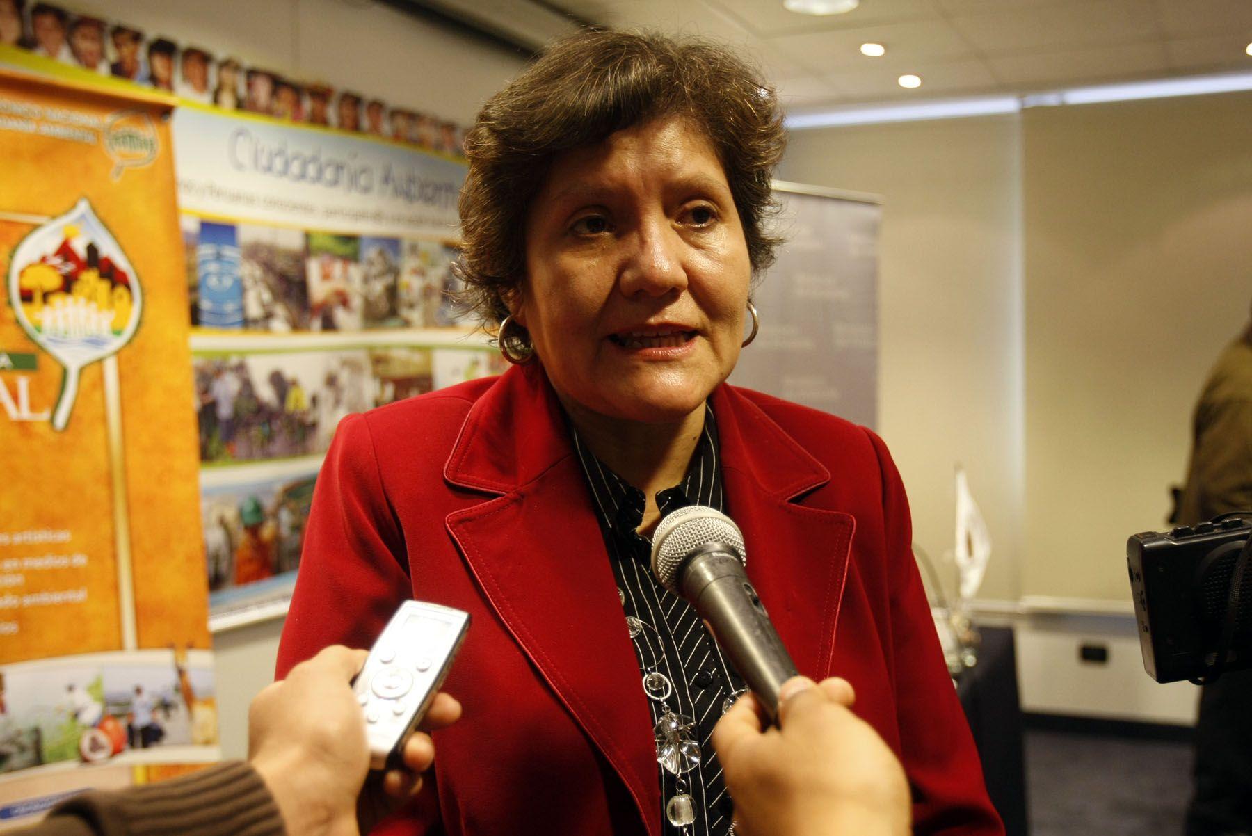 Viceministra de Gestión Ambiental, Ana María González del Valle. Foto: ANDINA/Archivo.