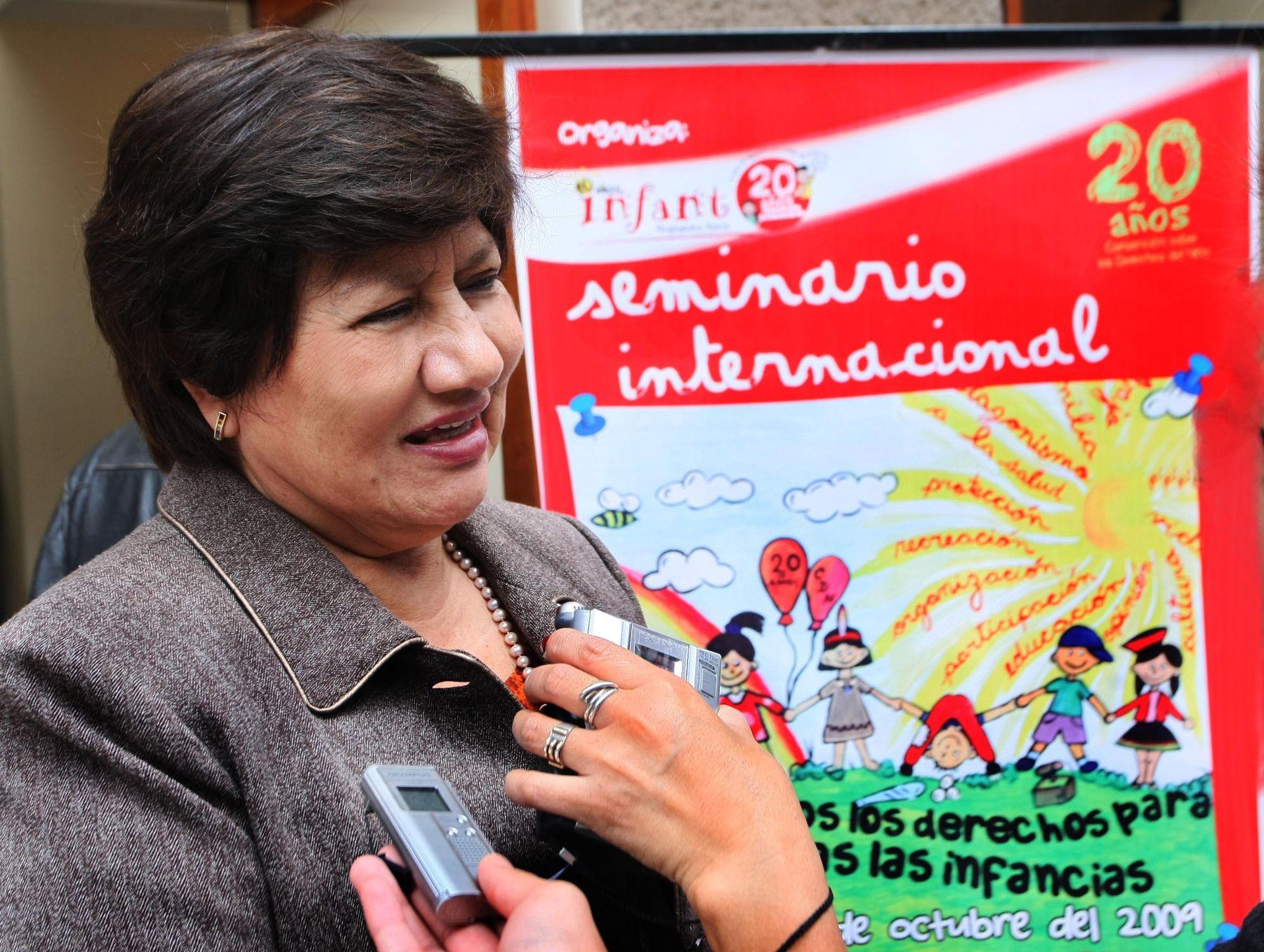 Viceministra Norma Añaños. Foto: ANDINA/Archivo.