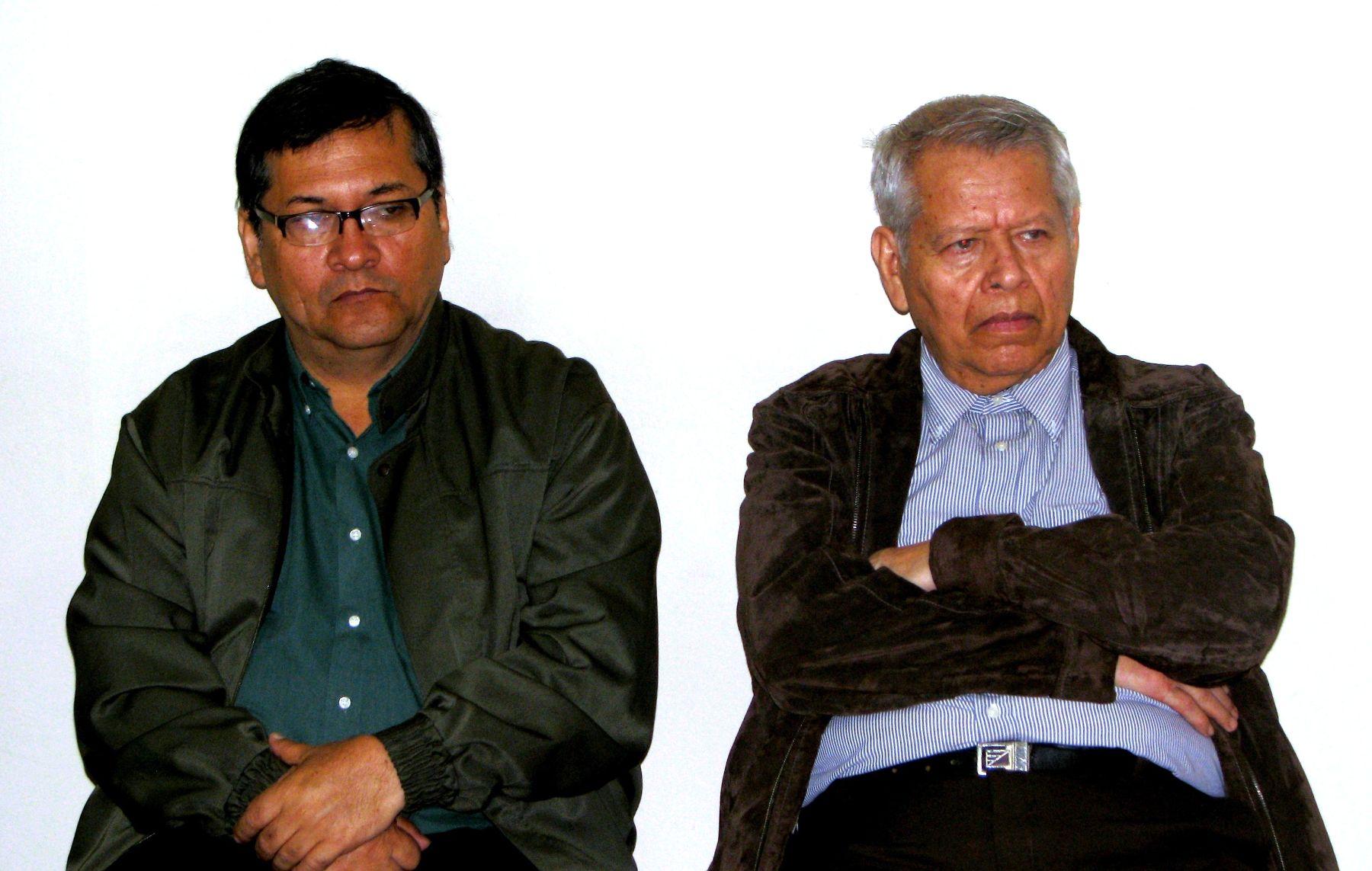 Soilo Ramírez y Luis Valdez Villacorta procesados por la muerte del periodista Alberto Rivera Fernández. Foto: ANDINA/ Corte de Lima.