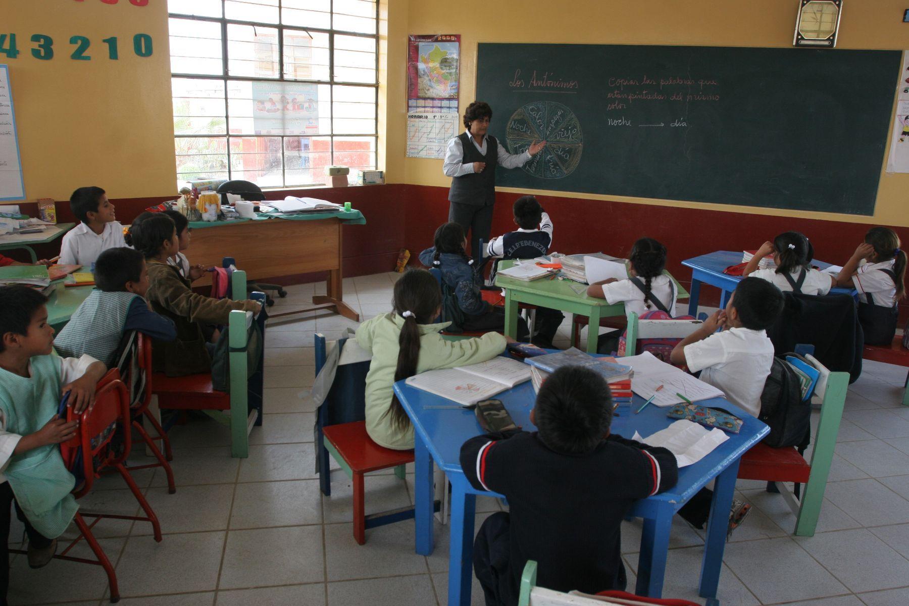 Escolares de inicial contarán este año con módulos y bibliotecas de aula. Foto: Archivo