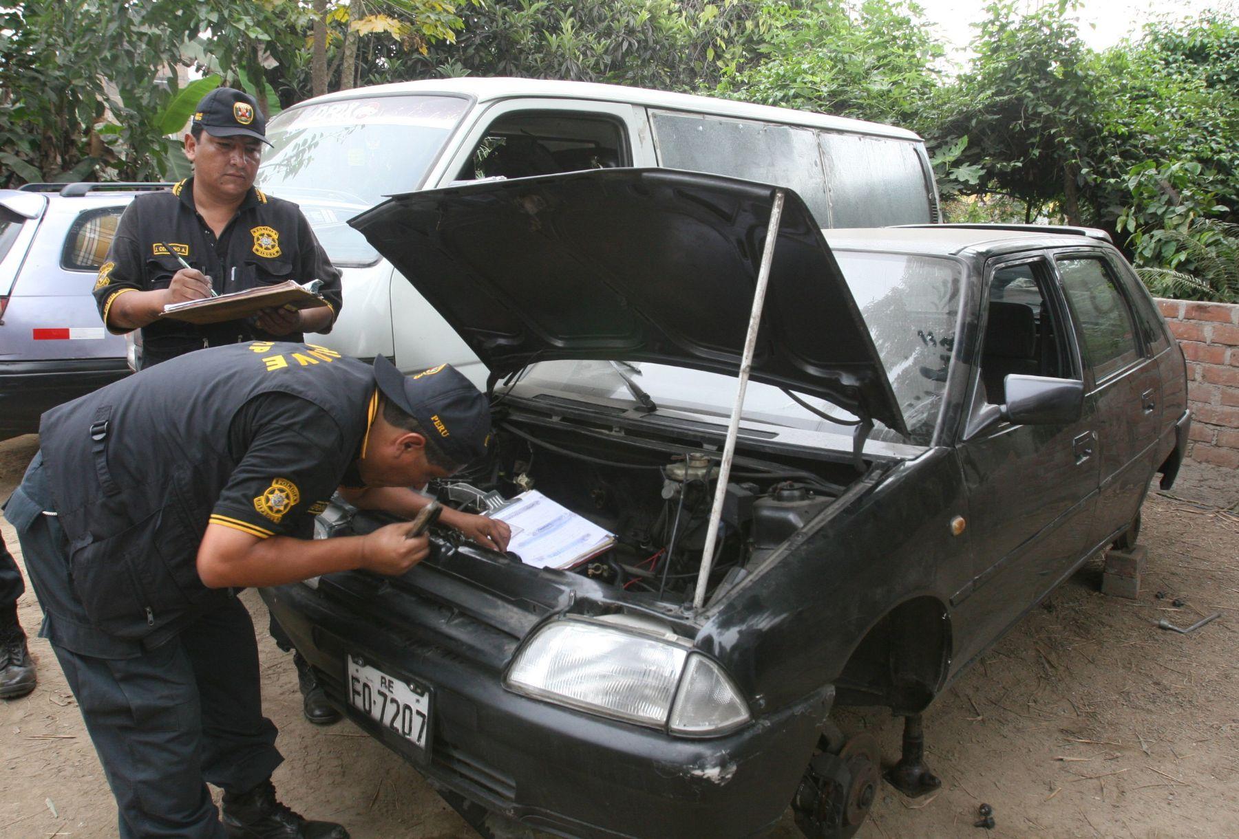 Policía recuperó más de 3,000 vehículos robados en lo que va del año