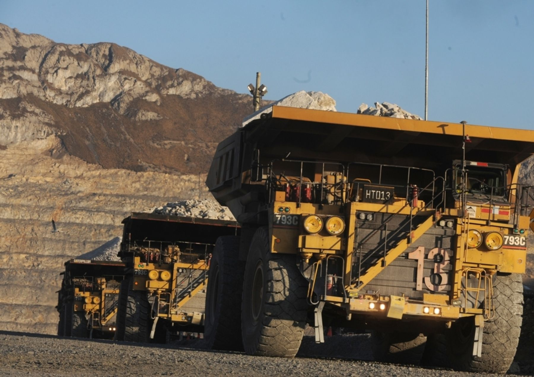 Operaciones mineras a tajo abierto. ANDINA/Difusión