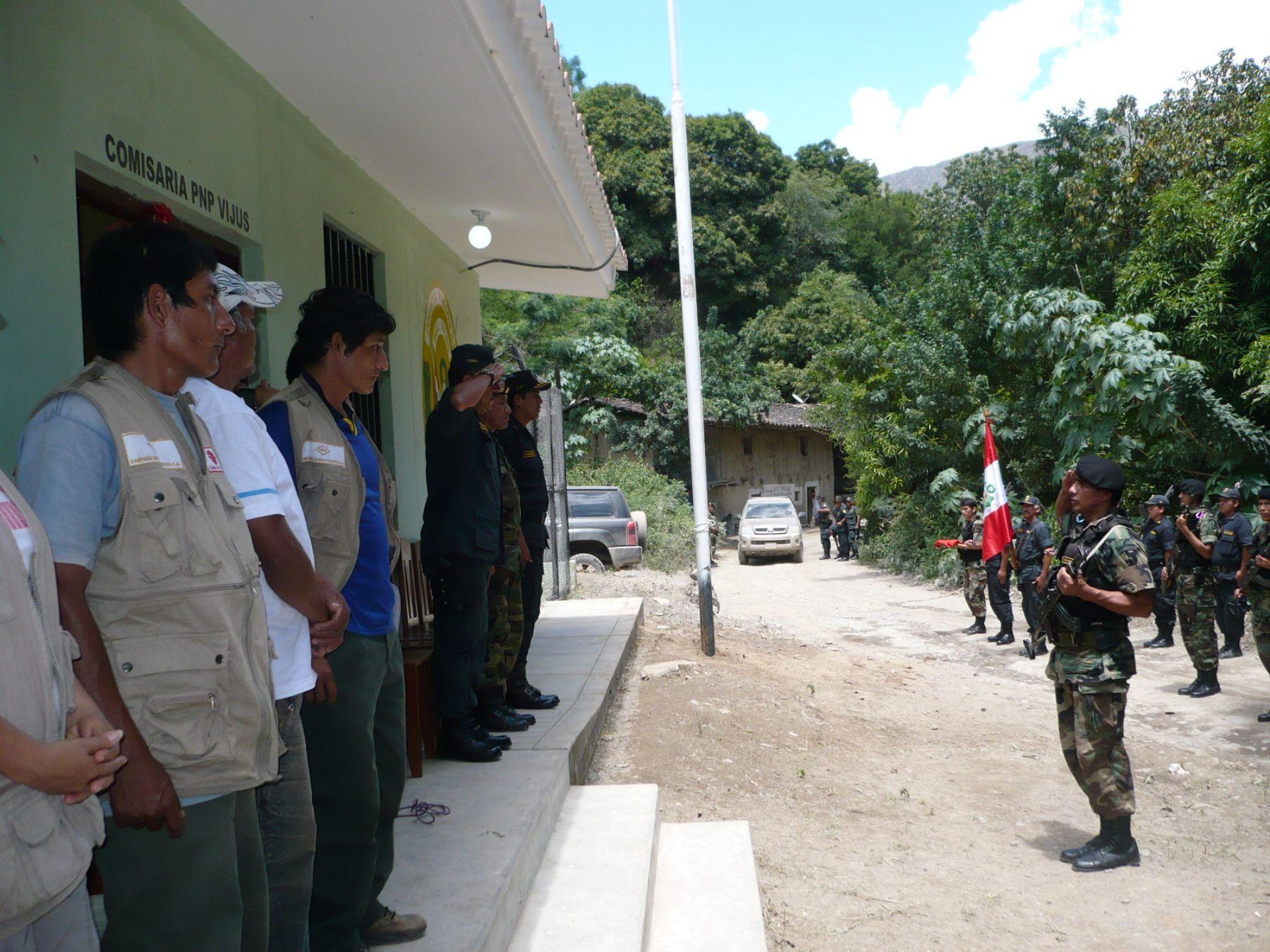 Comisaría del anexo de Vijus, en el distrito y la provincia de Pataz, La Libertad.