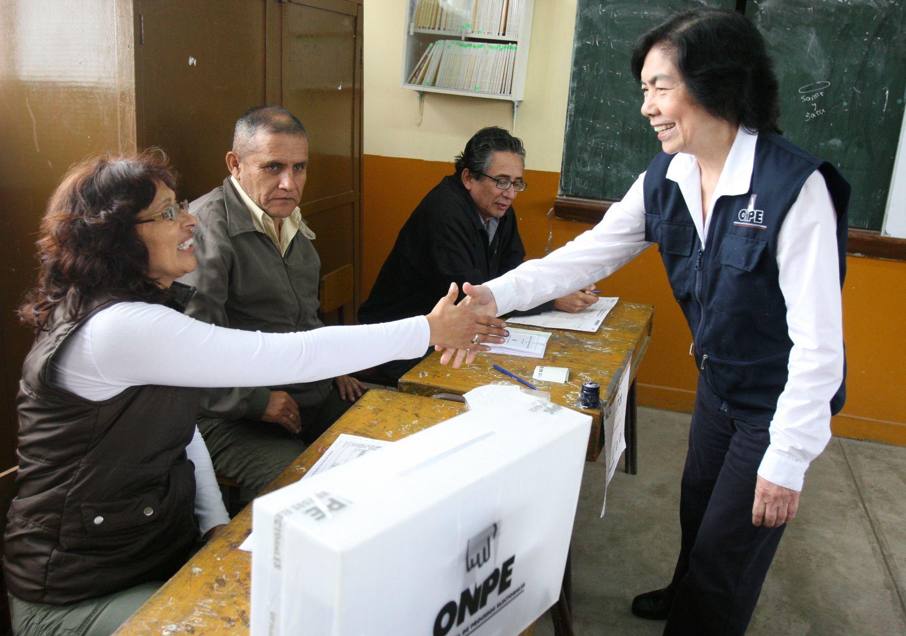 Jefa de la Oficina Nacional de Procesos Electorales, Magdalena Chú. Foto: ANDINA/Héctor Vinces