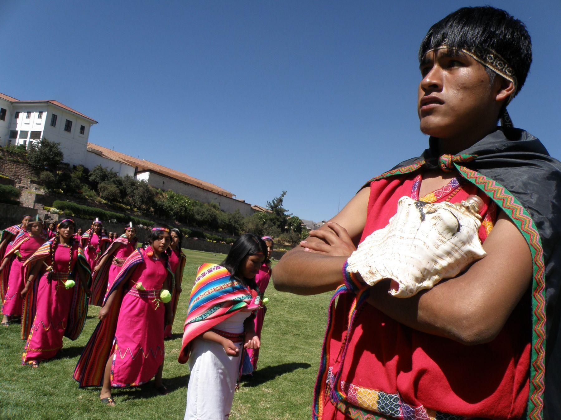 Escenificación de la fundación de la ciudad de Cusco. Foto: ANDINA / Percy Hurtado.