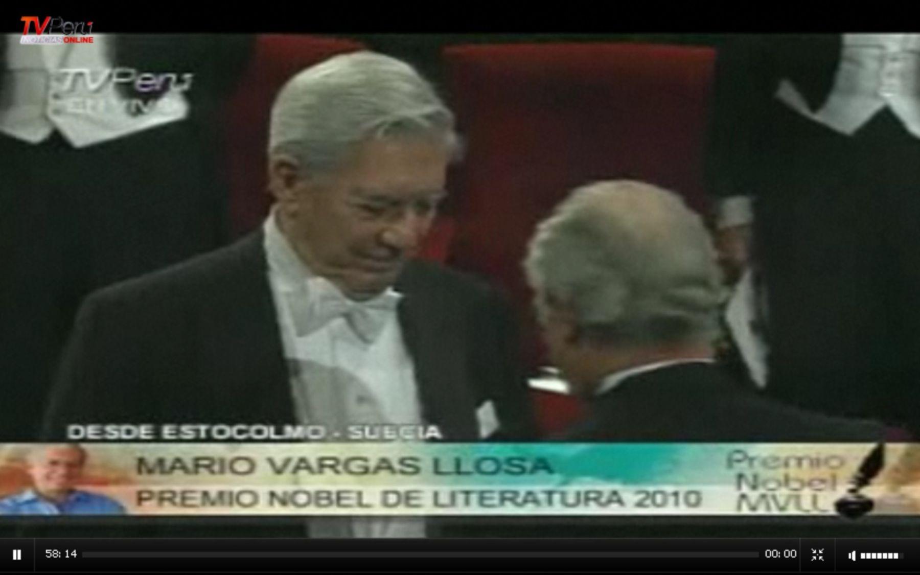 Mario Vargas Llosa recibe Premio Nobel de Literatura.Foto: INTERNET/Medios