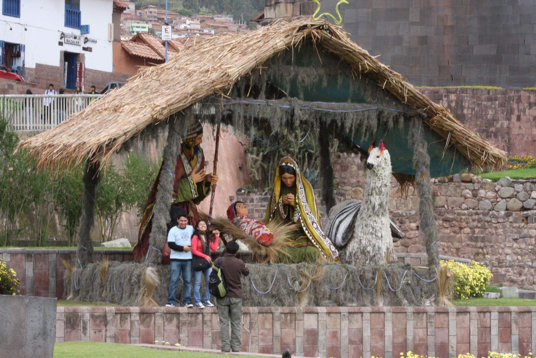 7281dc416ee Nacimiento montado en el Centro Histórico de Cusco. Foto  ANDINA   Percy  Hurtado.
