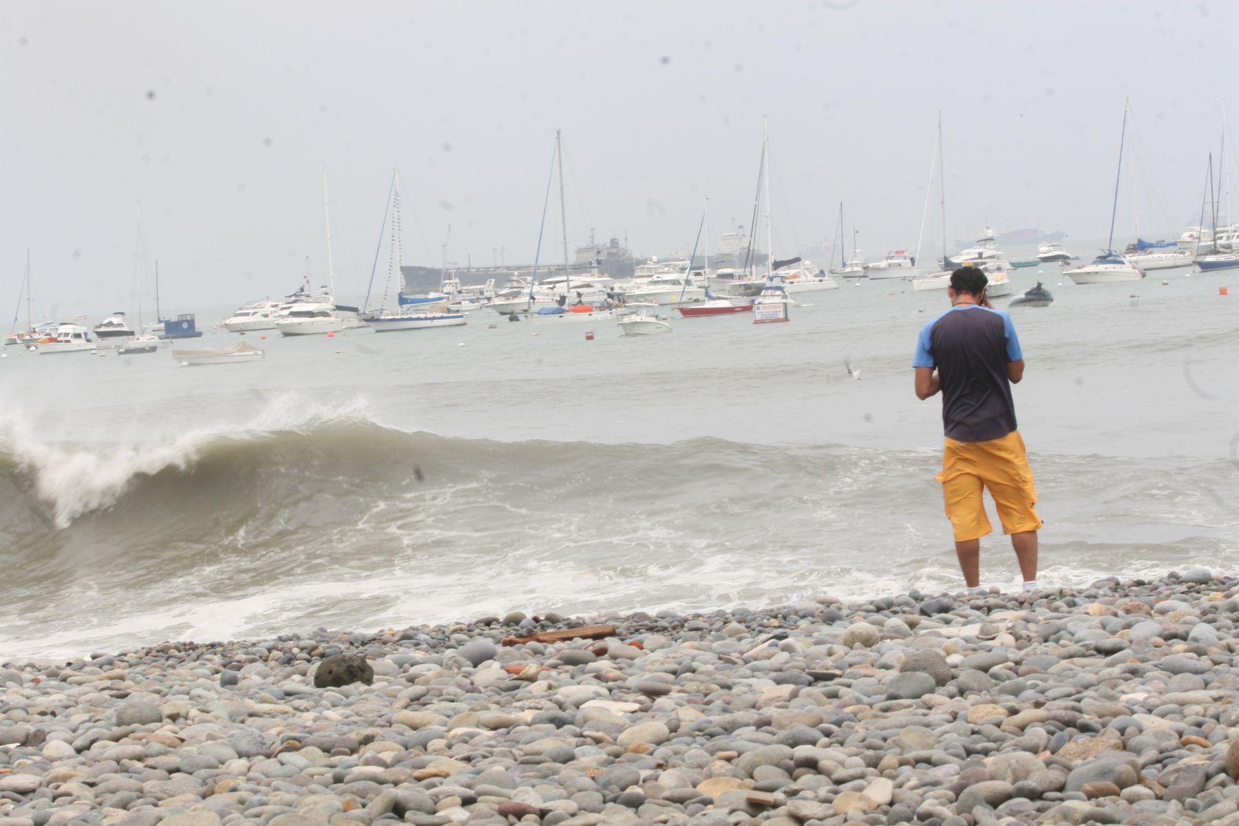 El horizonte predictivo del estado del mar en la zona costera de nuestro litoral es hasta el jueves 30 de enero.ANDINA/archivo