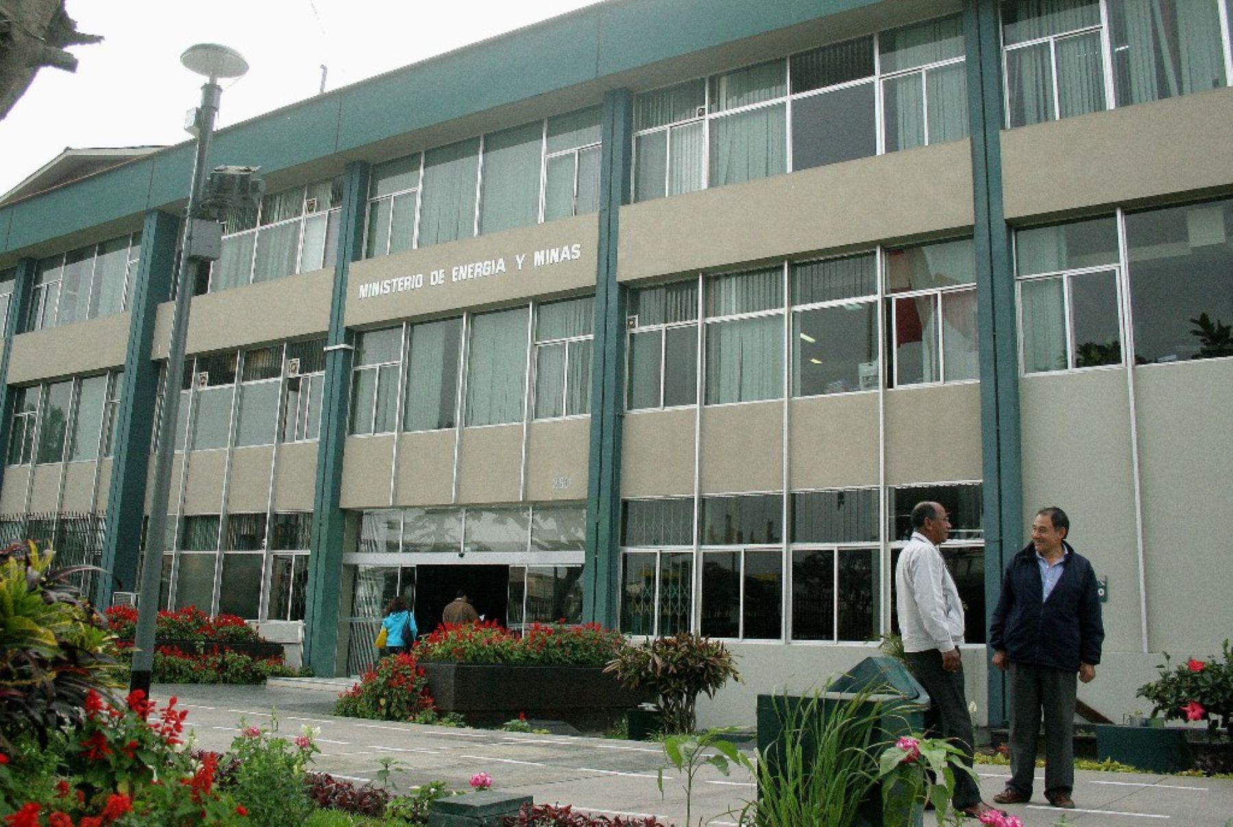 Ministerio de Energía y Minas. Foto: ANDINA / Archivo.