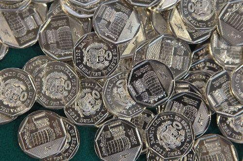 Monedas. ANDINA/Carlos Lezama