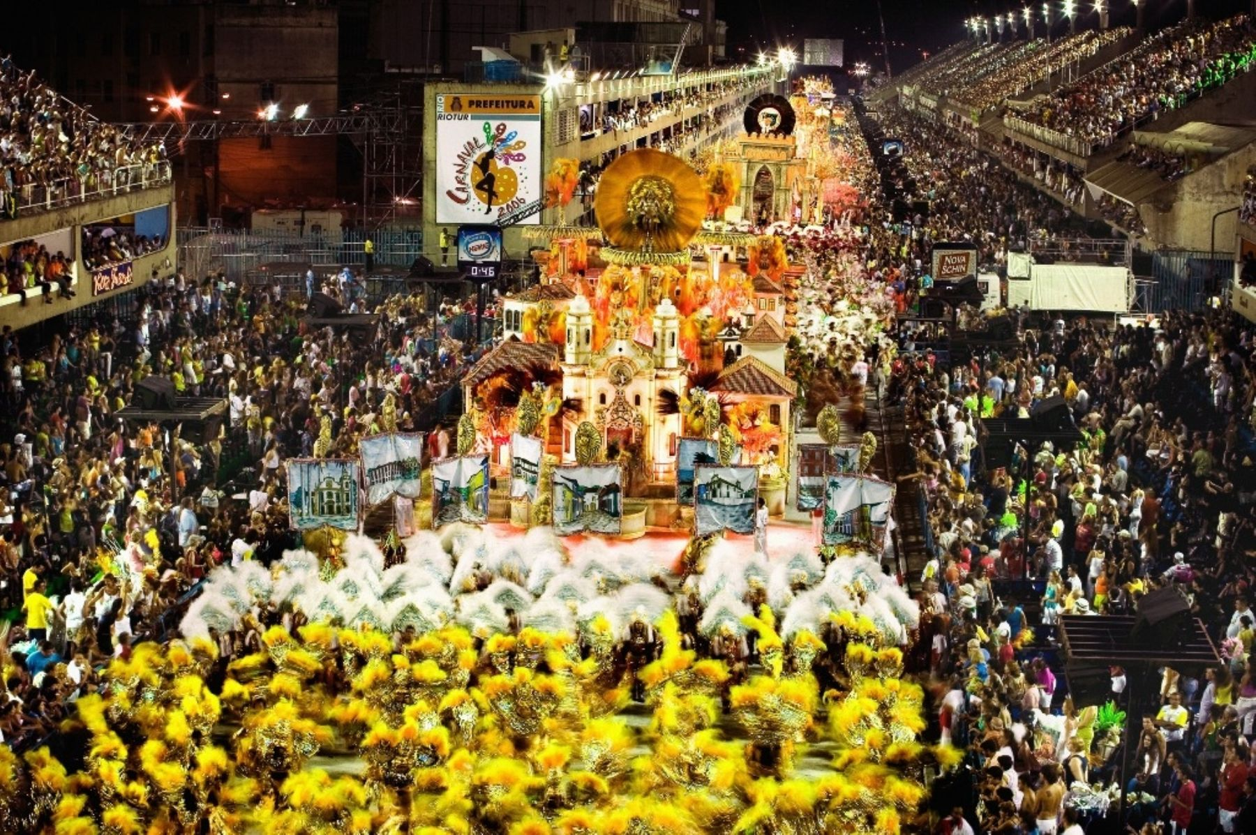 Empezaron los desfiles del Carnaval de Río de Janeiro. Foto: Difusión.