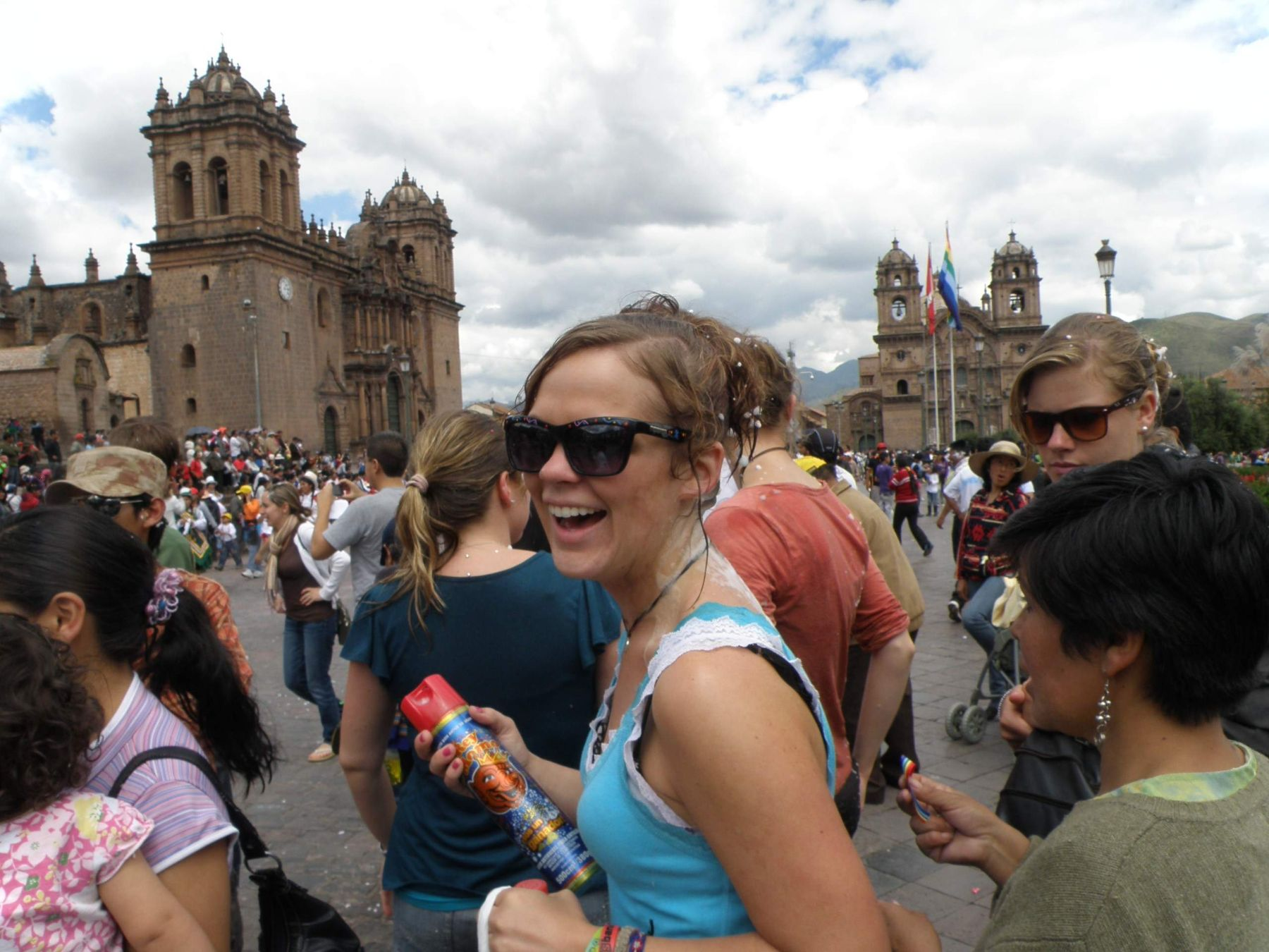 Locals, tourists enjoyed carnivals at downtown Cusco square