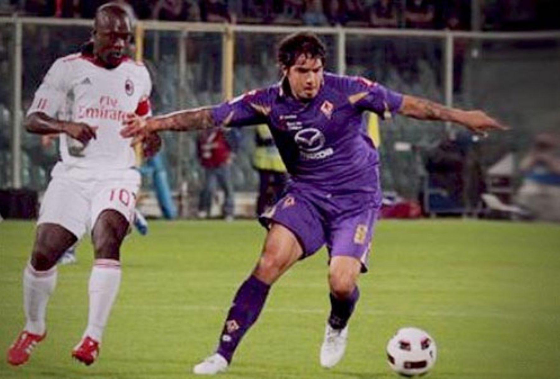 Juan Manuel Vargas en partido contra el Milan. Foto: INTERNET/Medios