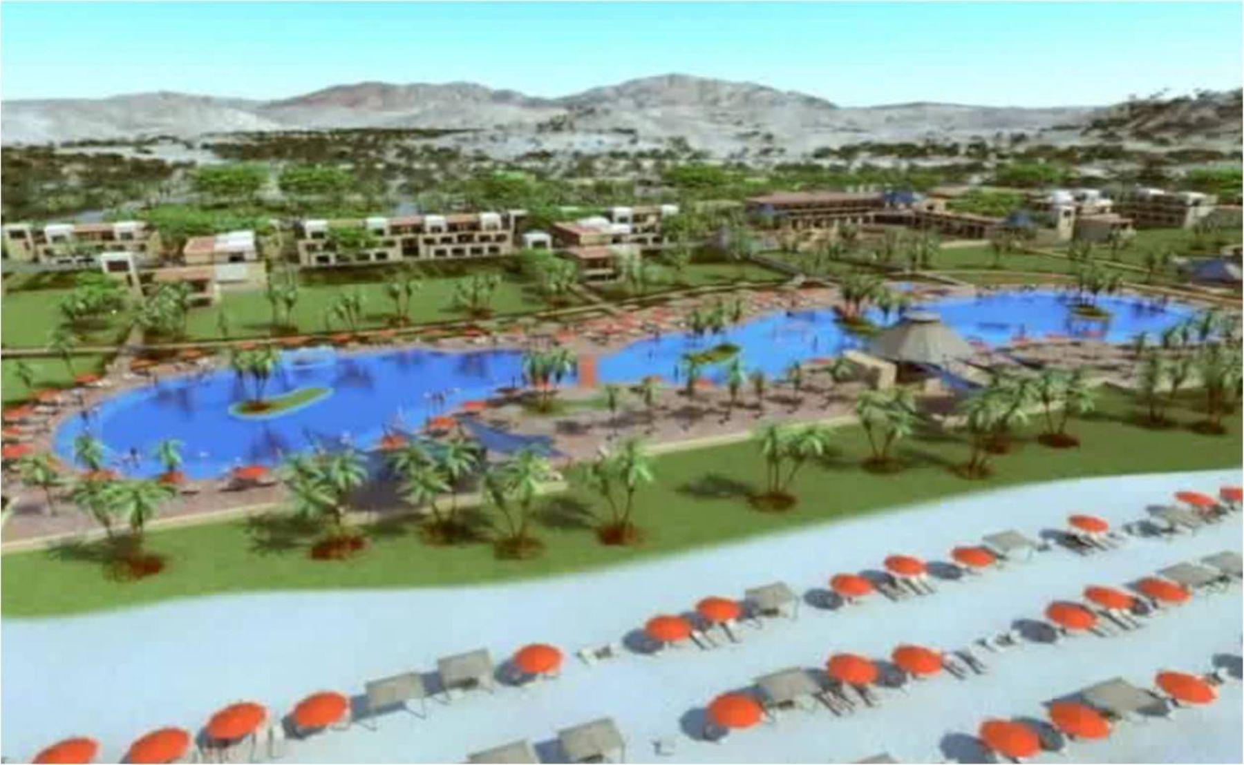 Imagen 3D proyectada de nuevo resort de cadena Decameron en Punta Sal. Foto: ANDINA/ Difusión