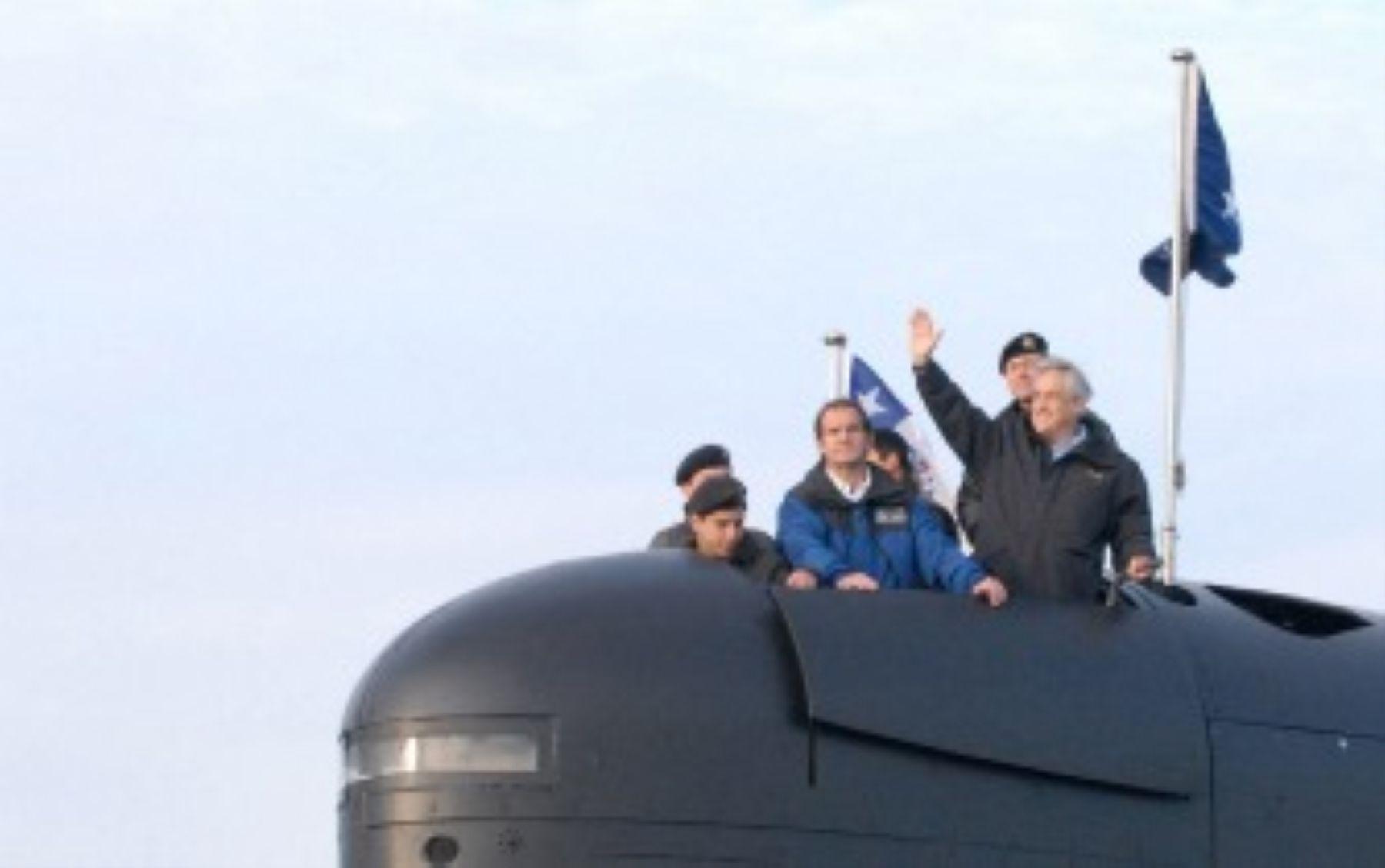 El presidente de Chile, Sebastián Piñera, dio hoy inicio a la operación naval multinaciones Unitas. Foto: ANDINA/Internet.