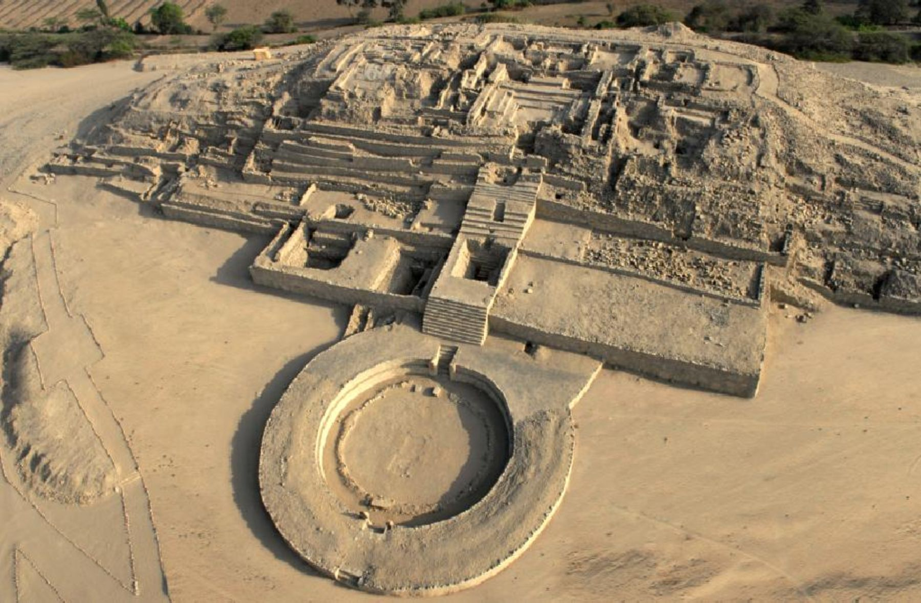 Aerial view of Caral. Photo:ANDINA