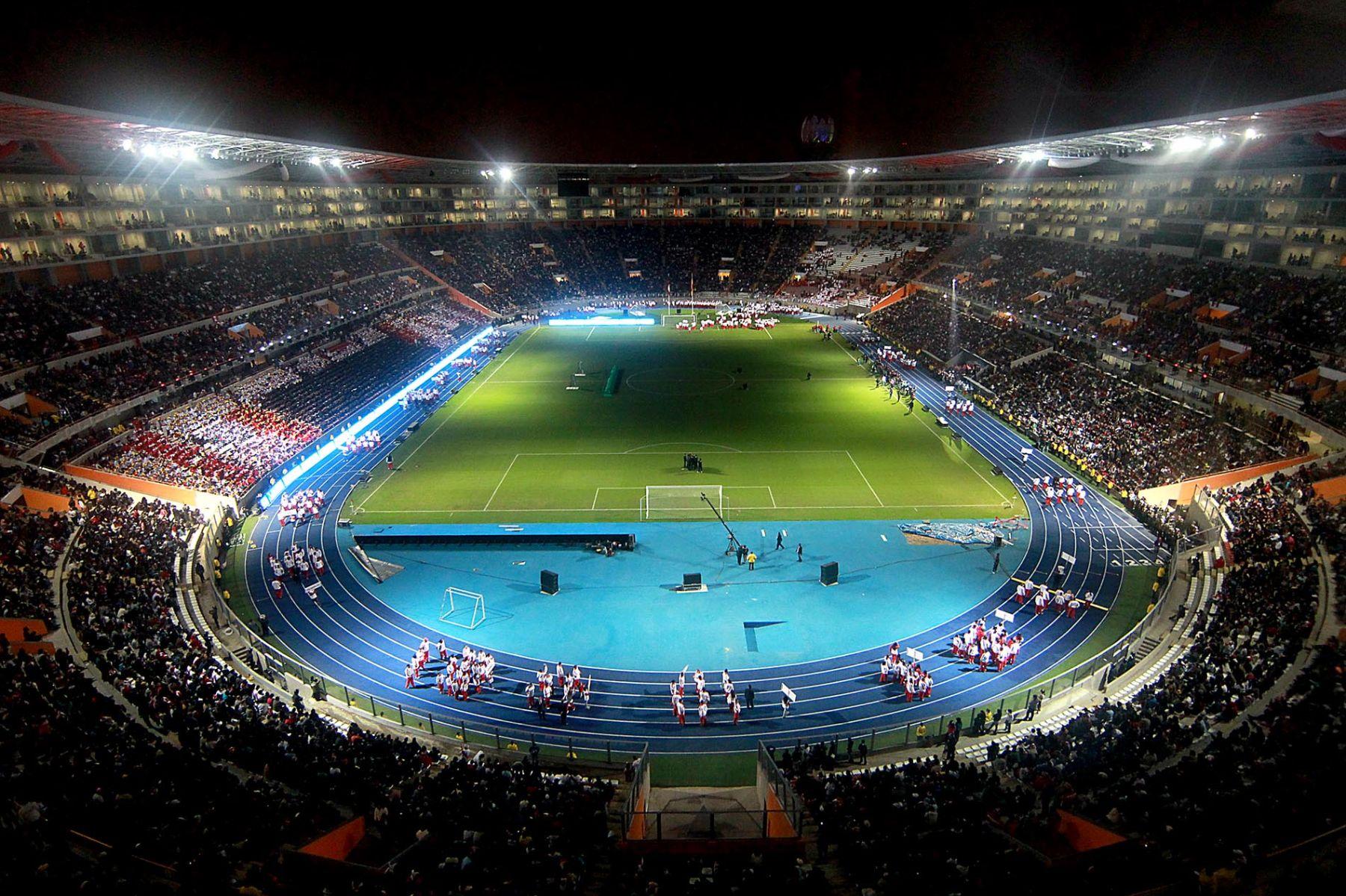 Ceremonia de reinauguración del Estadio Nacional de Perú. Foto: ANDINA/Carlos Lezama.