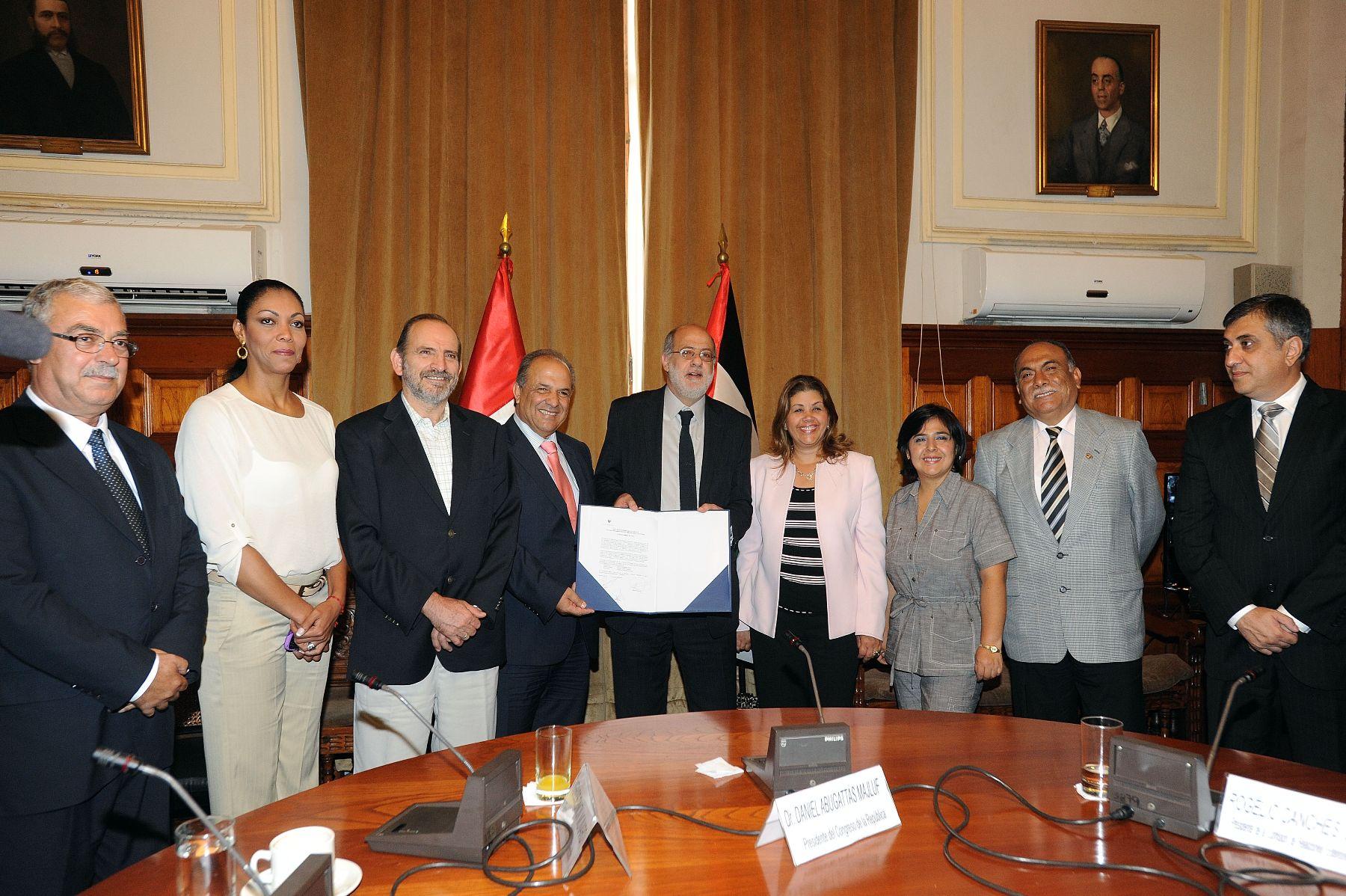 Fue instalada hoy la Liga Parlamentaria de Amistad Perú-Palestina.   Foto: ANDINA/CDR.
