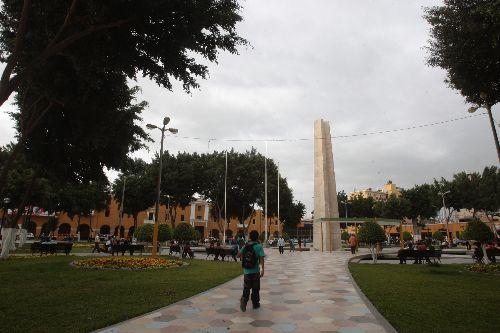Agenda Bicentenario de la Independencia se lanzará en la Plaza de Armas de Ica. ANDINA/Juan Carlos Guzmán