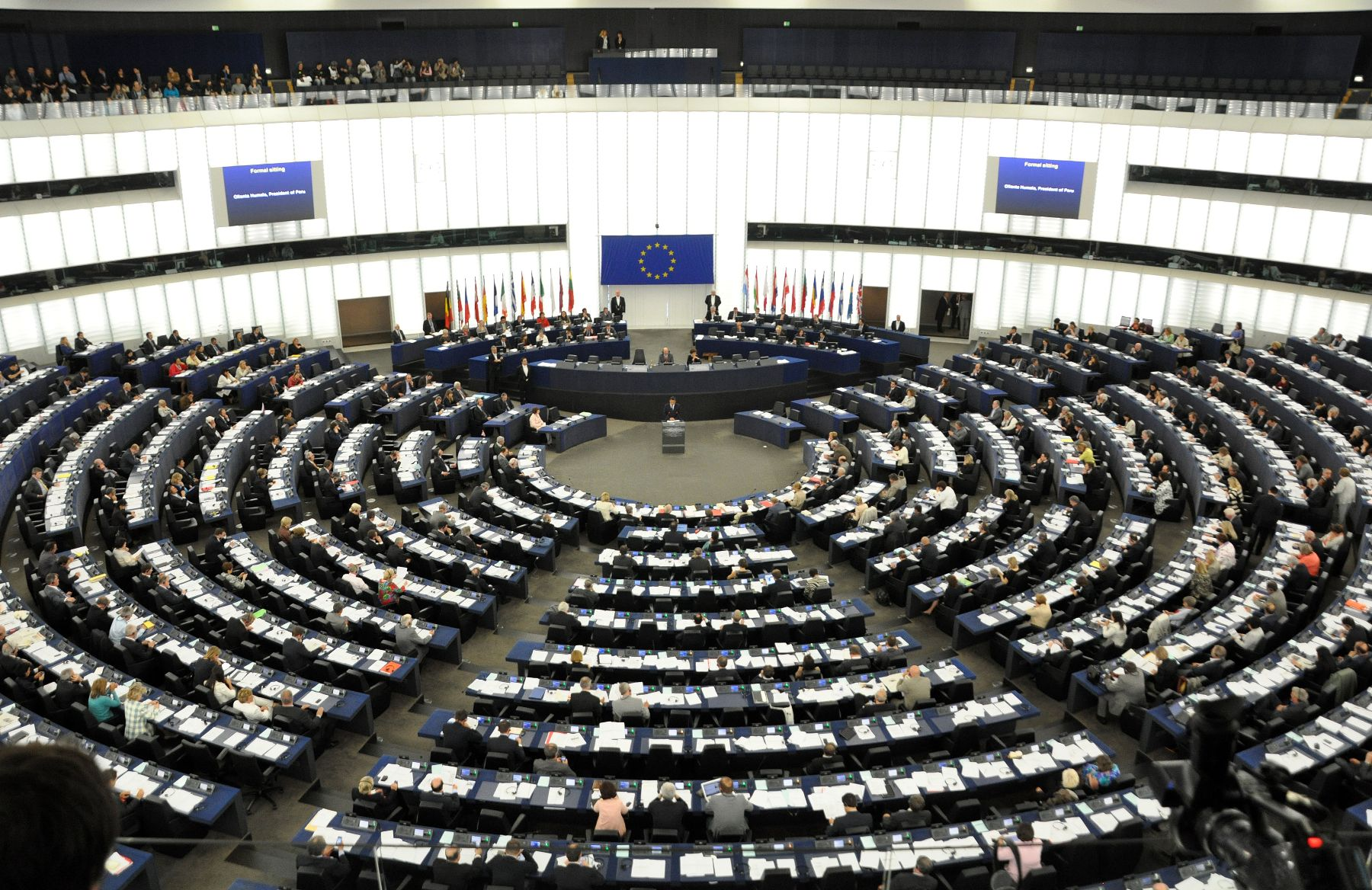 European Parliament. Photo: ANDINA/Prensa Presidencia