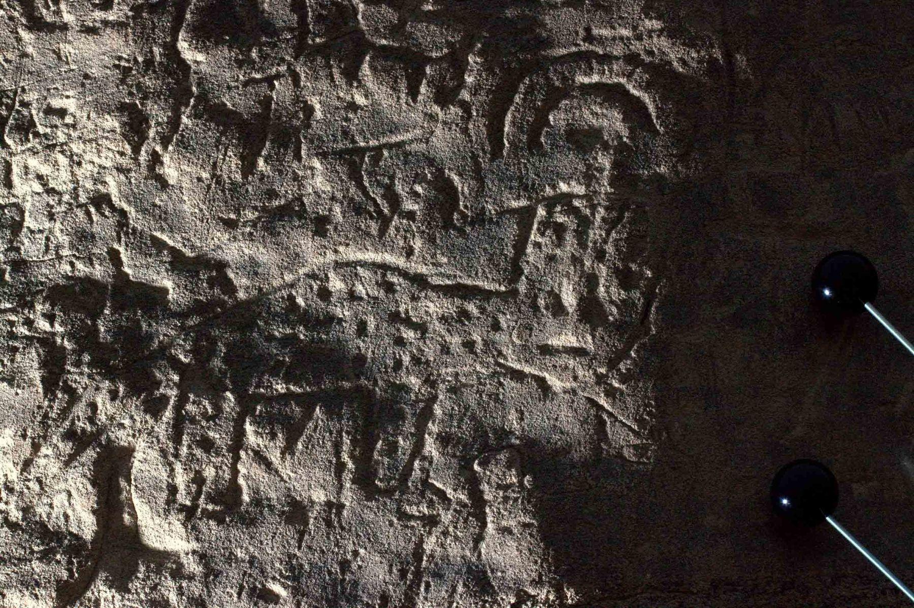 Petroglifo de un felino estudiado en Nasca. Foto: ANDINA/Cortesía.