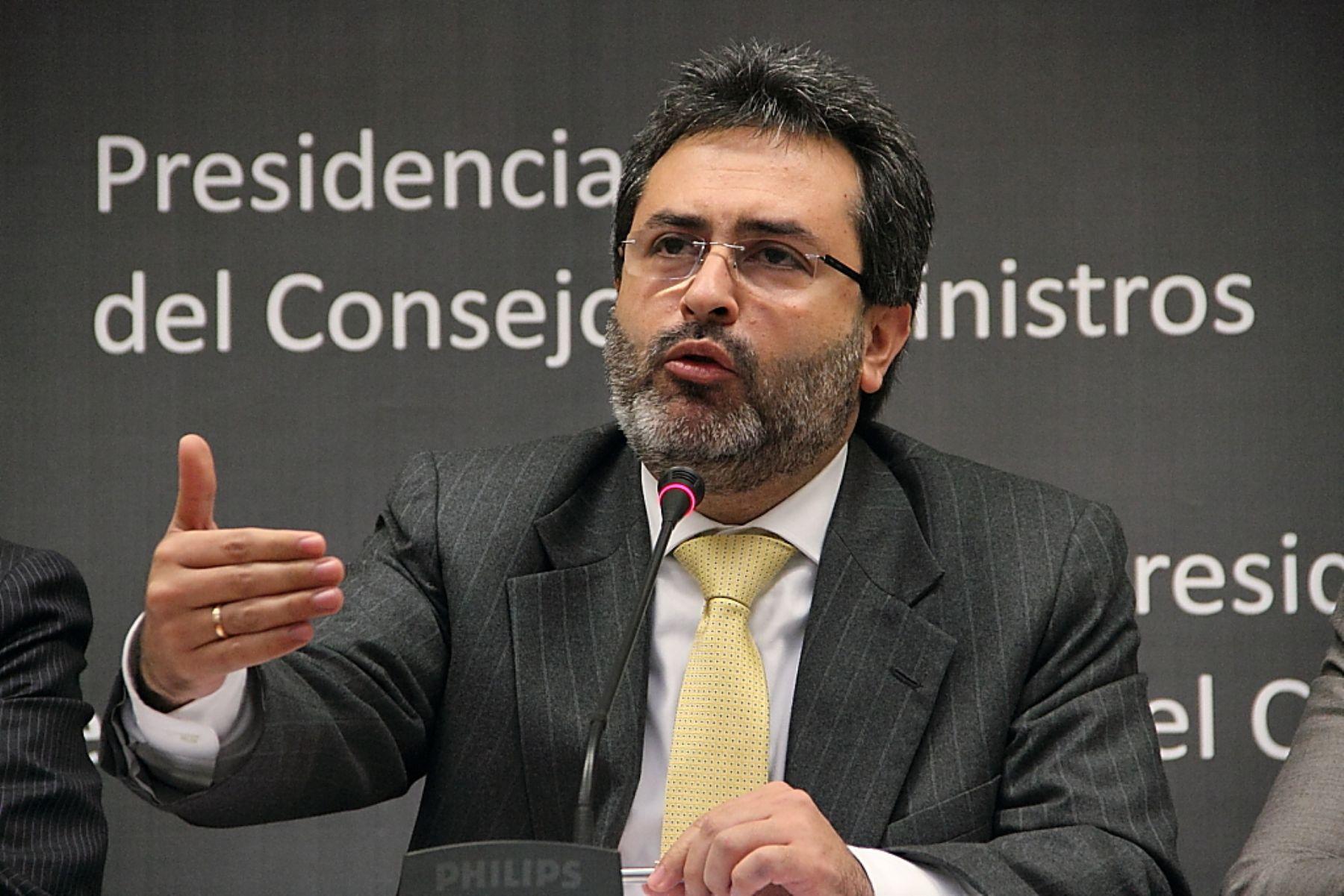 Jefe del Gabinete ministerial, Juan Jiménez. Foto: ANDINA/Jack Ramón
