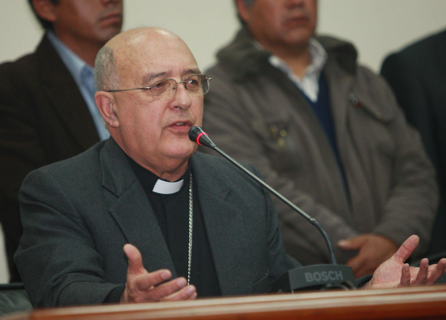 Arzobispo de Huancayo y nuevo cardenal, monseñor Pedro Barreto. Foto: ANDINA/Norman Córdova