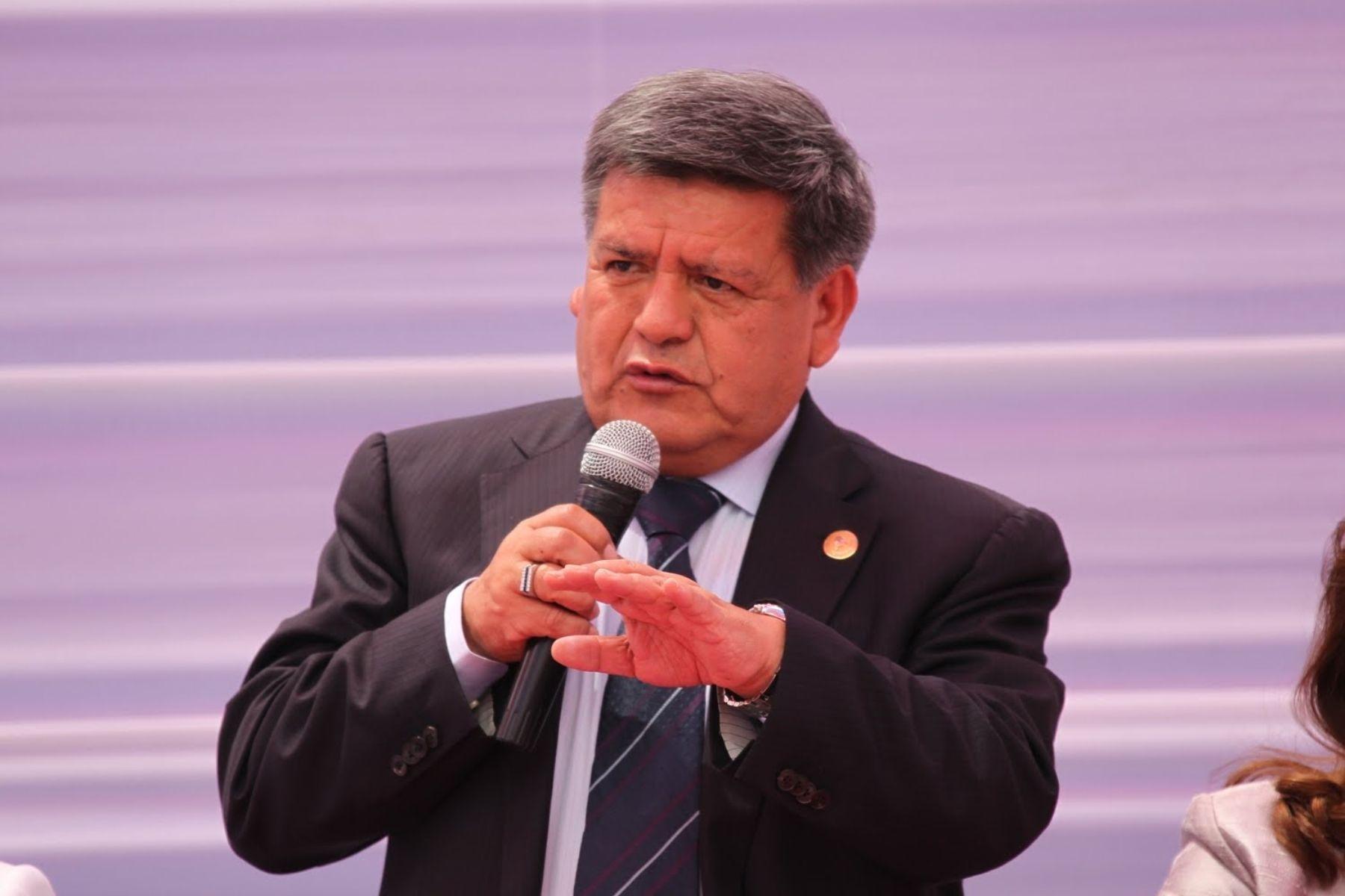 Presidente de la ANGR, César Acuña. ANDINA/archivo