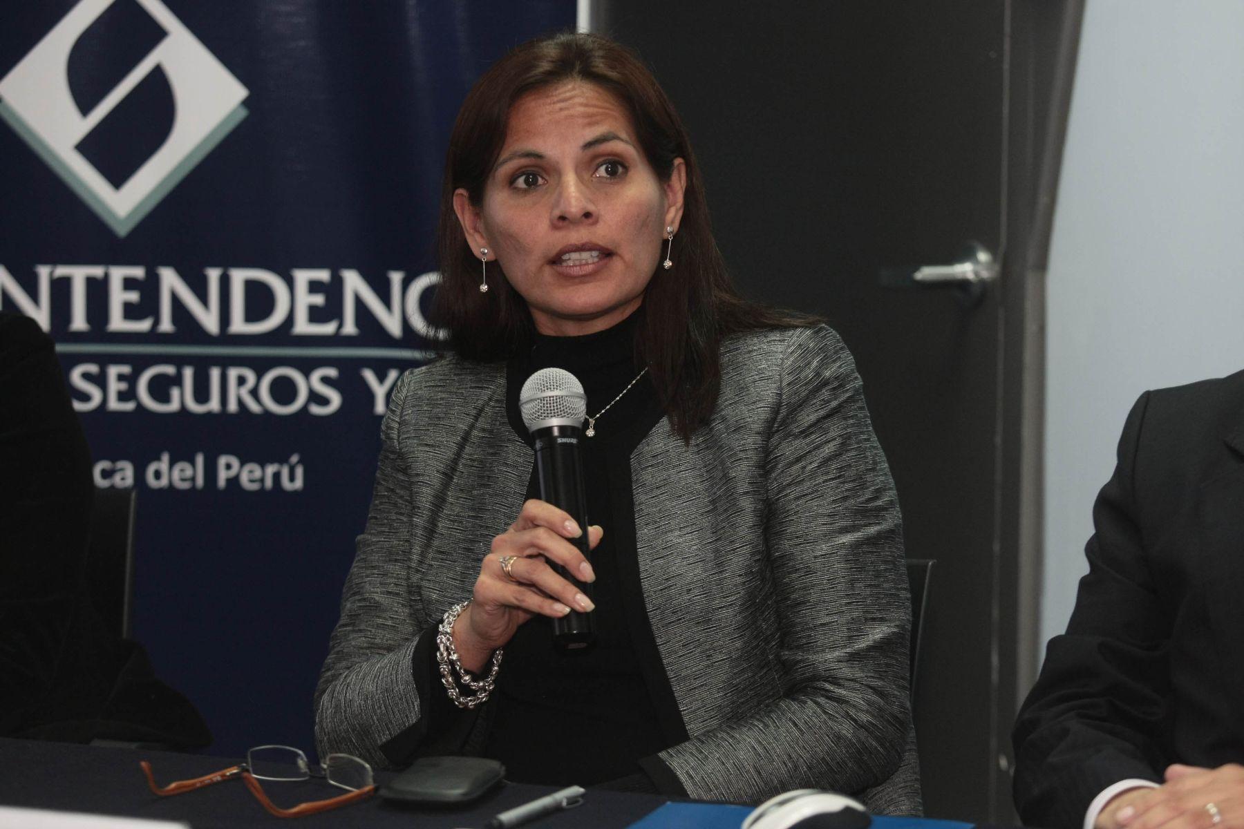 Mariela Zaldívar de la SBS, ANDINA/Juan Carlos Guzmán