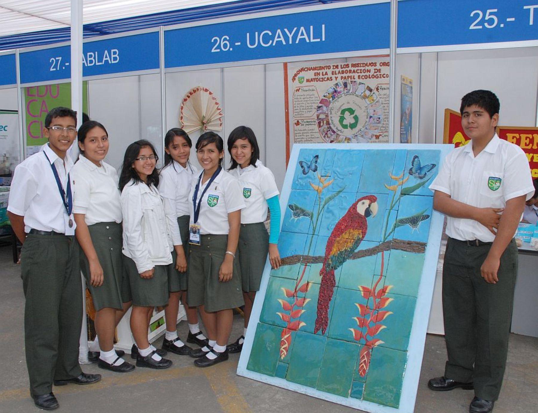 Escolares de Ucayali compiten en feria científica y tecnológica en Brasil. Foto: Concytec.
