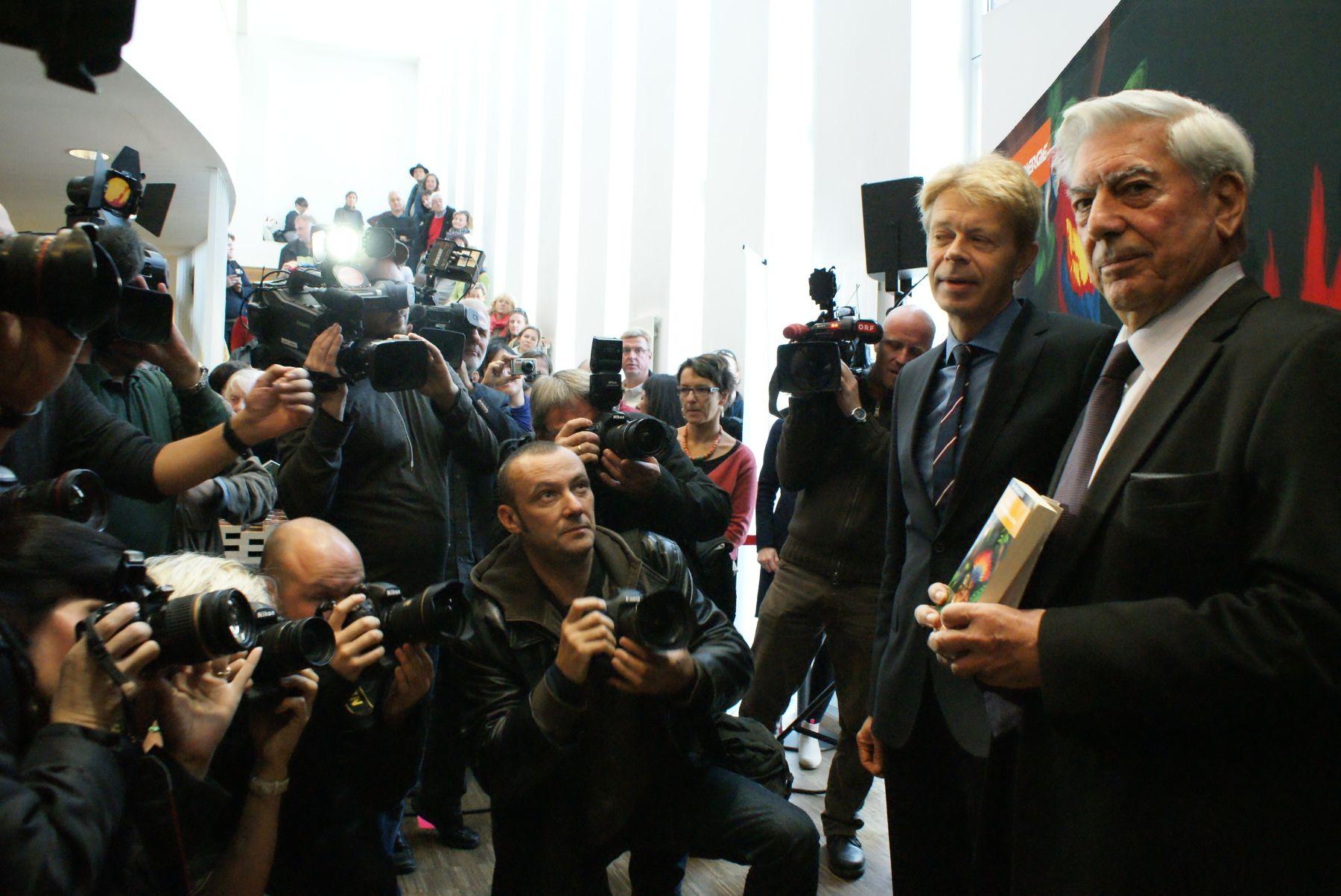 Mario Vargas Llosa en Viena