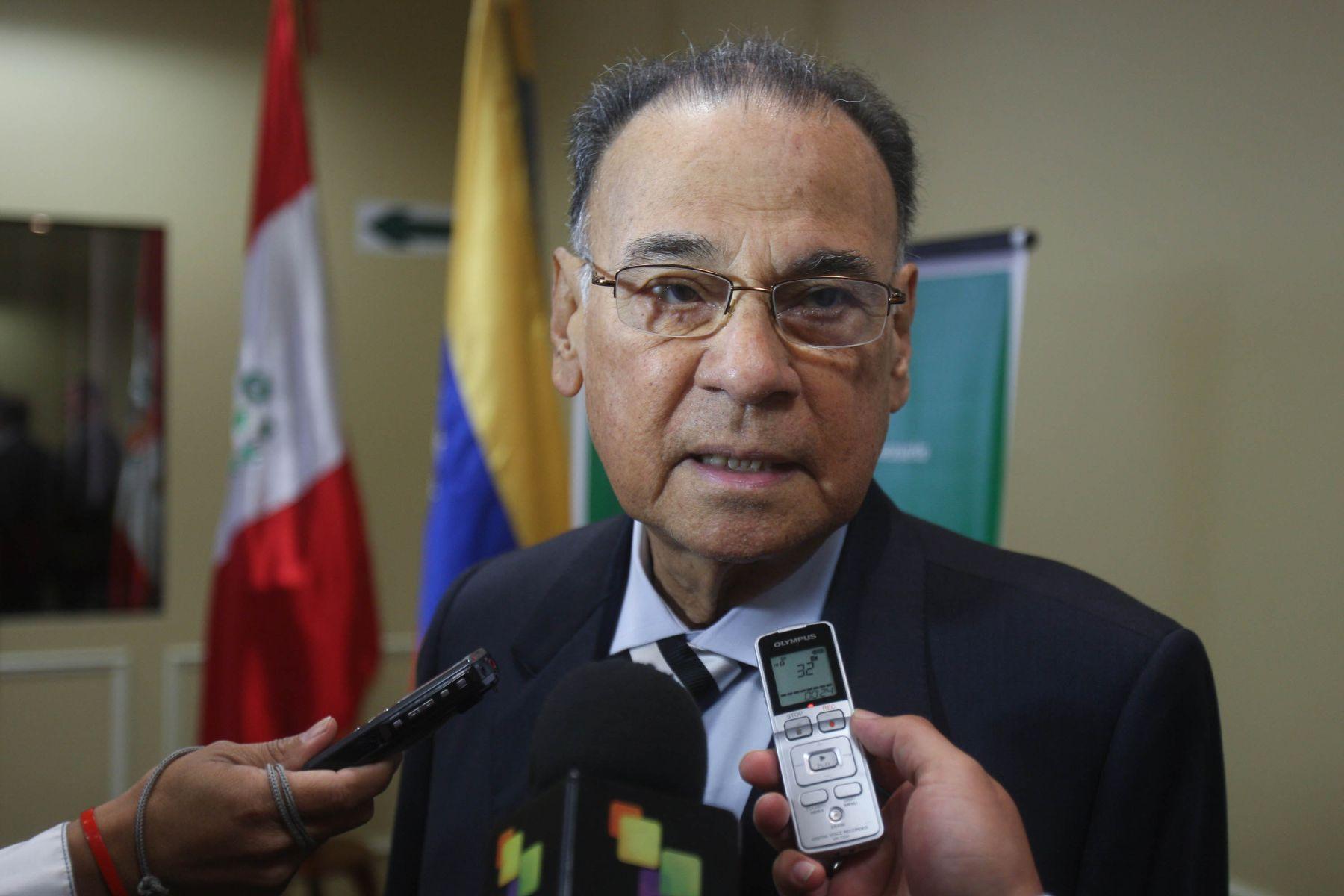 Unasur Secretary General Ali Rodriguez. Photo:ANDINA / Juan Carlos Guzmán Negrini.
