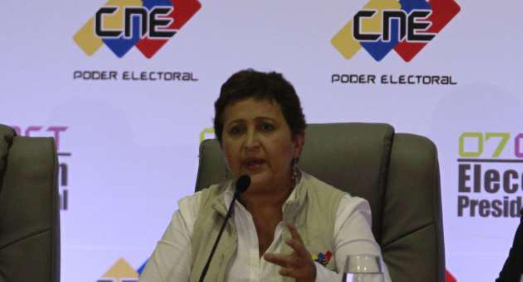 Presidenta del Consejo Nacional Electoral (CNE), Tibisay Lucena. INTERNET/Medios