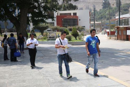 La Universidad La Cantuta o UNE brindará una oferta autorizada de 81 programas de estudio. Foto: ANDINA/Norman Córdova