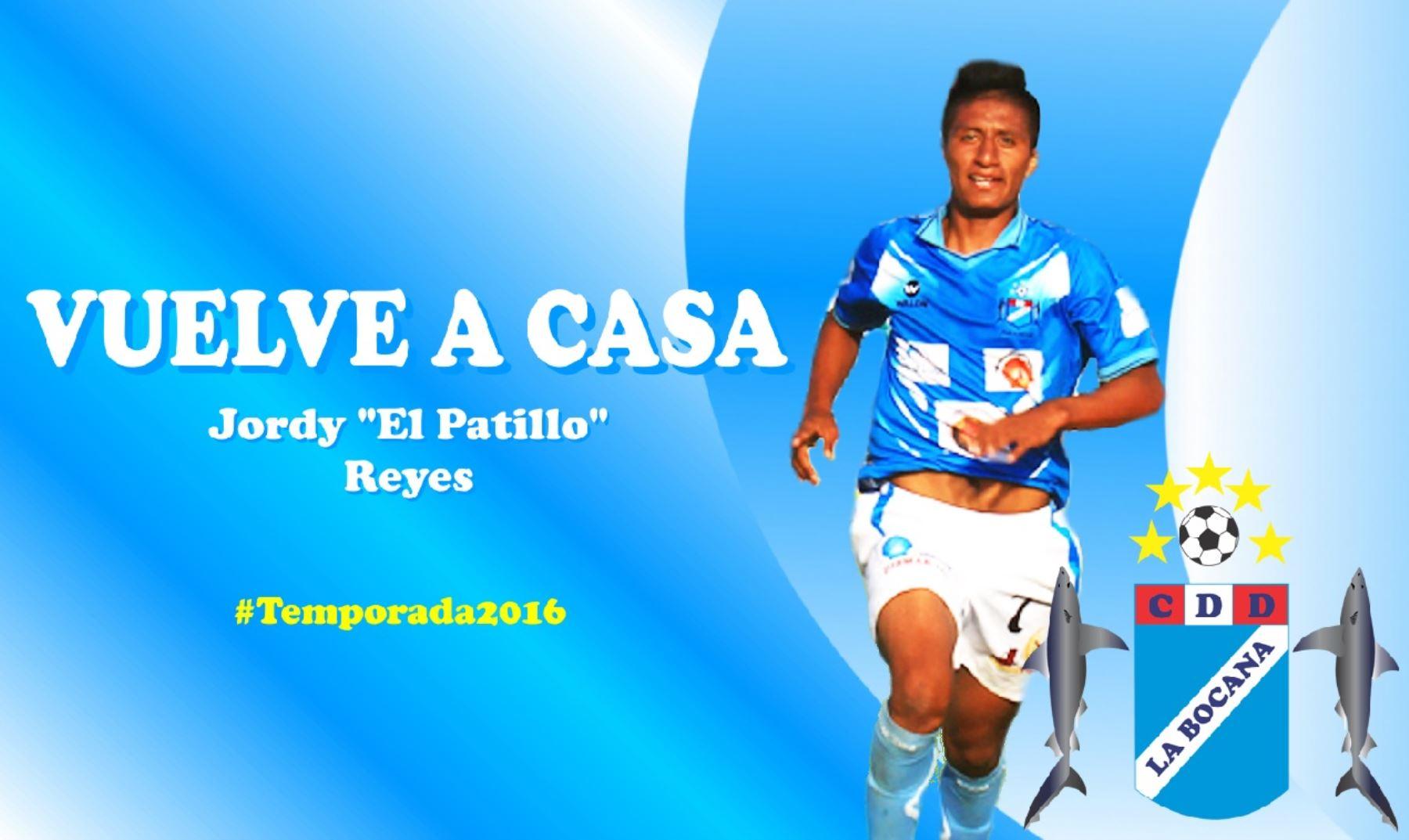 51585109b3 Jordy Reyna se suma a las filas de Defensor La Bocana. Foto  Facebook.