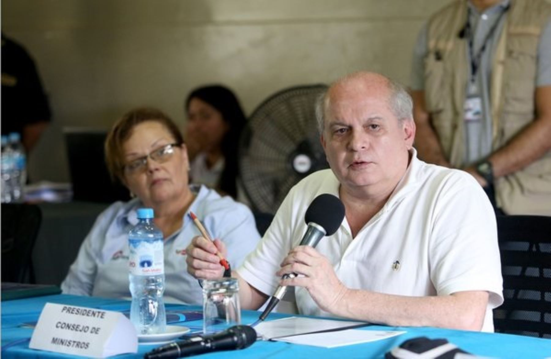 Jefe del Gabinete, Pedro Cateriano, encabezó mesa de diálogo en Madre de Dios, donde anunció futura base militar.