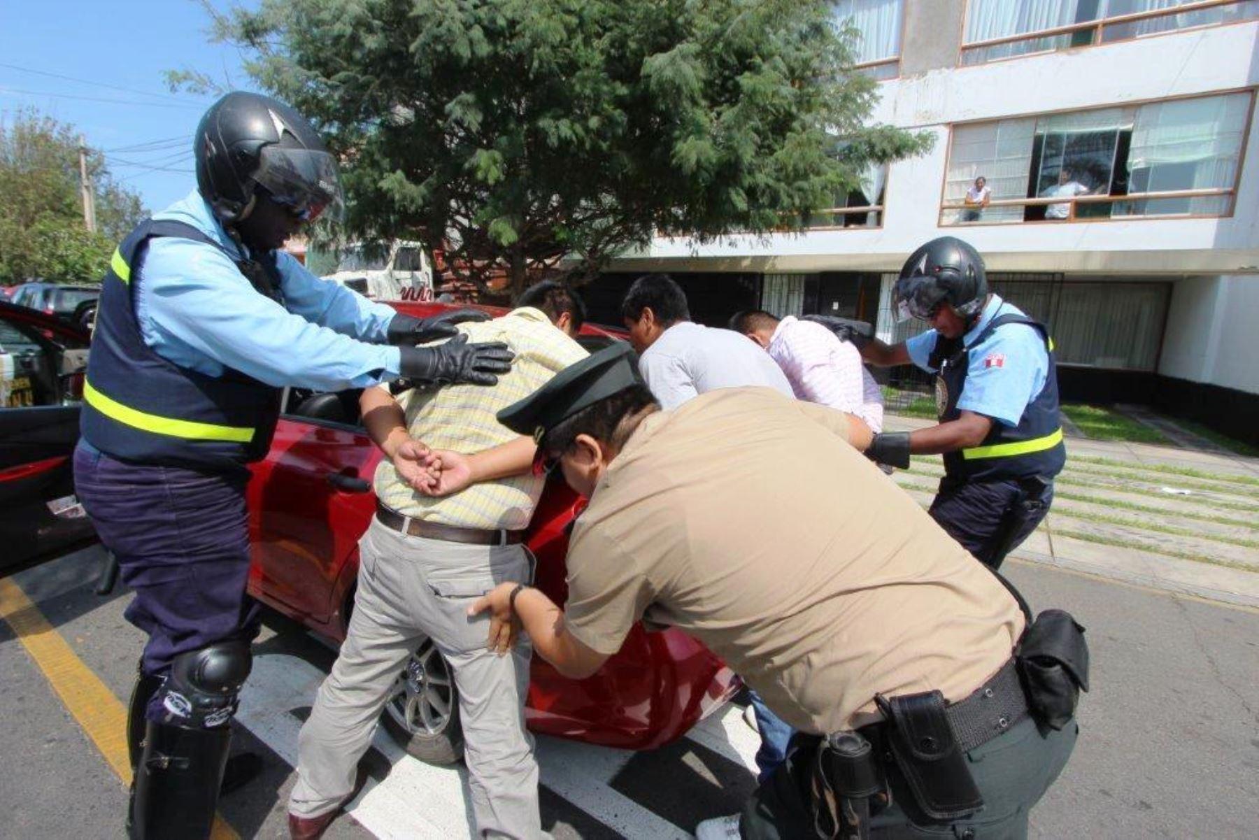 Relanzan patrullaje integrado con más de 50 policías en San Isidro. Foto: ANDINA/Difusión.