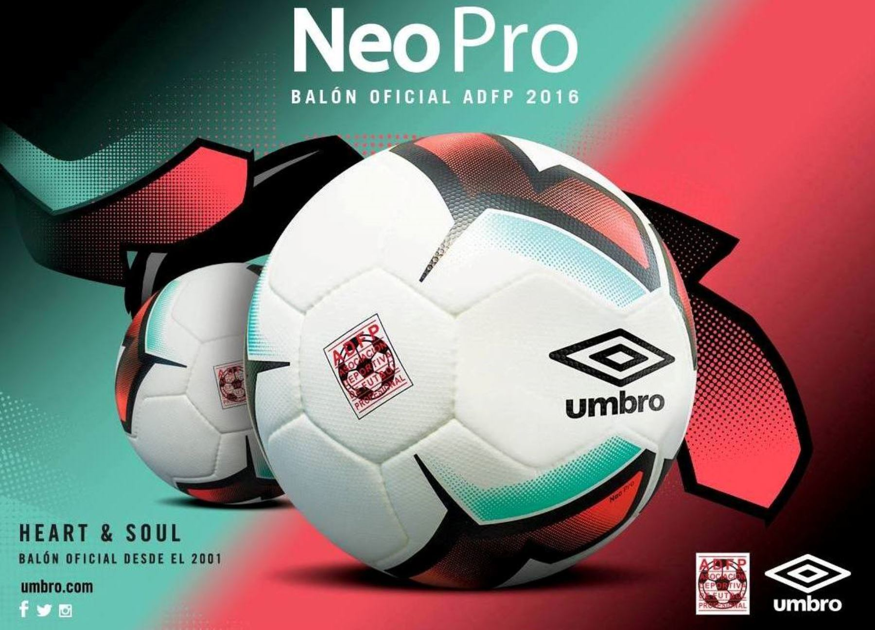La Umbro Neo Pro edición 2016 será la pelota oficial del campeonato. Foto   Facebook ef2aa8997815e