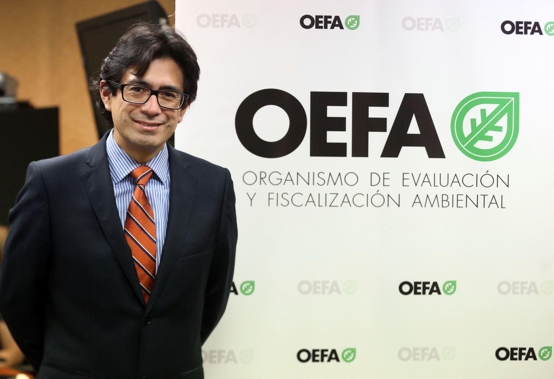 Hugo Gómez, presidente del OEFA. ANDINA/Vidal Tarqui