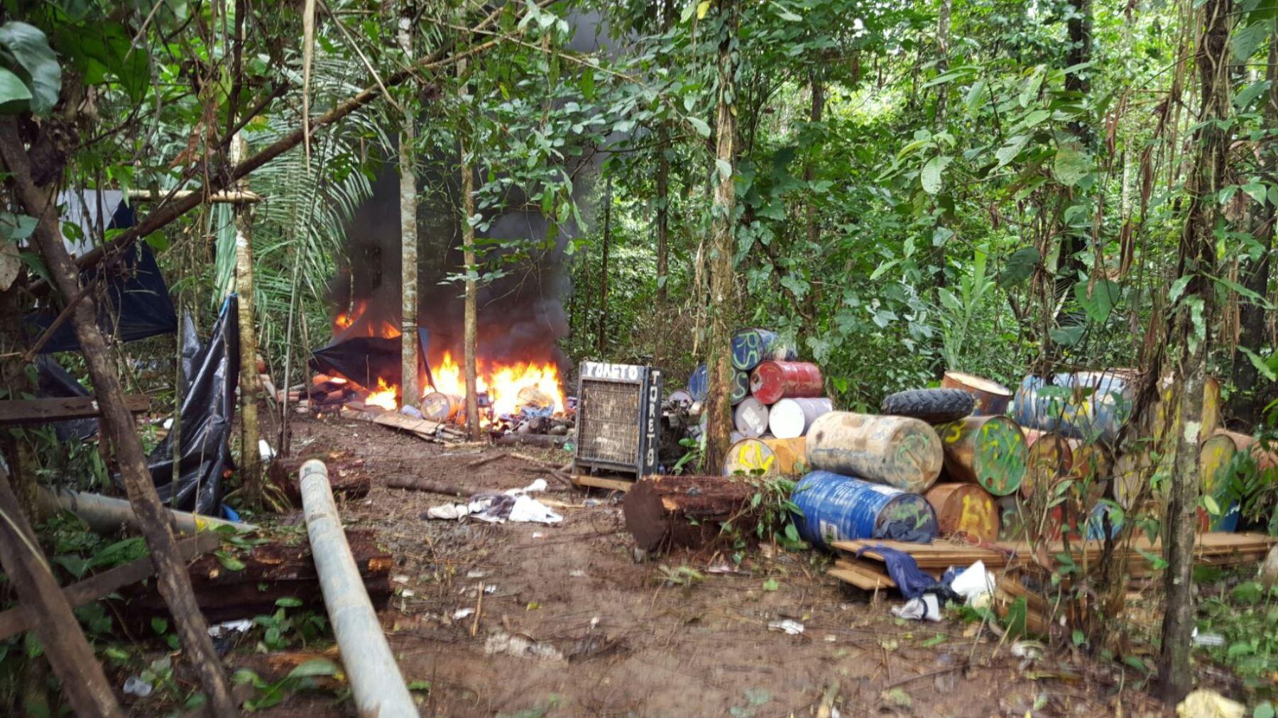 Realizan operativo de interdicción contra la minería ilegal en Reserva Nacional Tambopata.